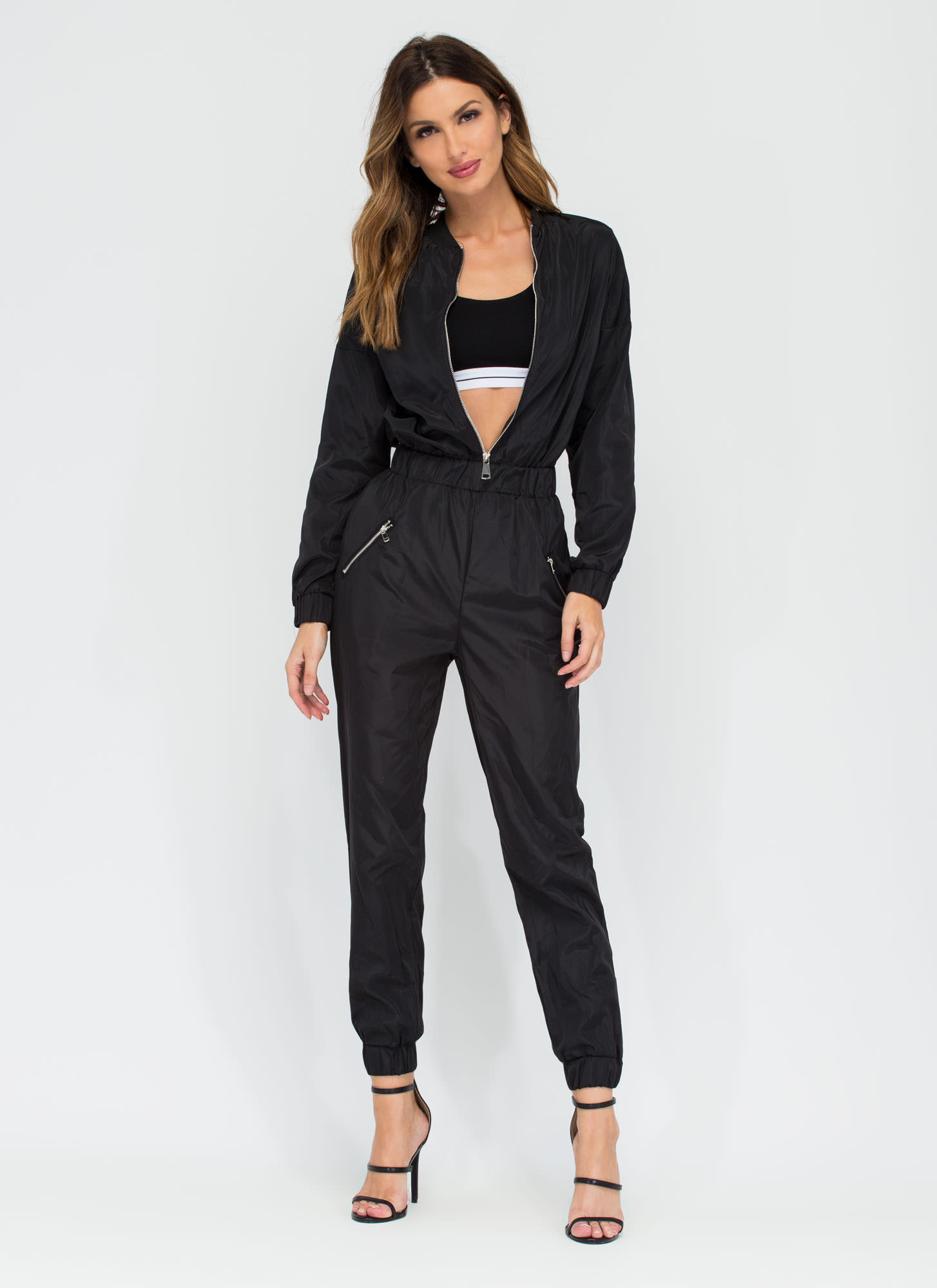 Flight Training Bomber Jumpsuit BLACK