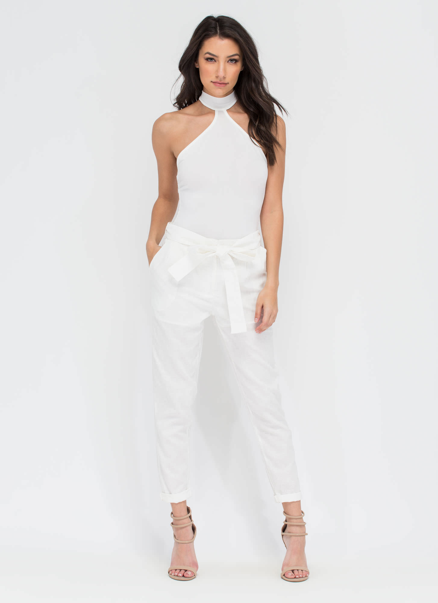 Cool For The Summer Cropped Trousers WHITE