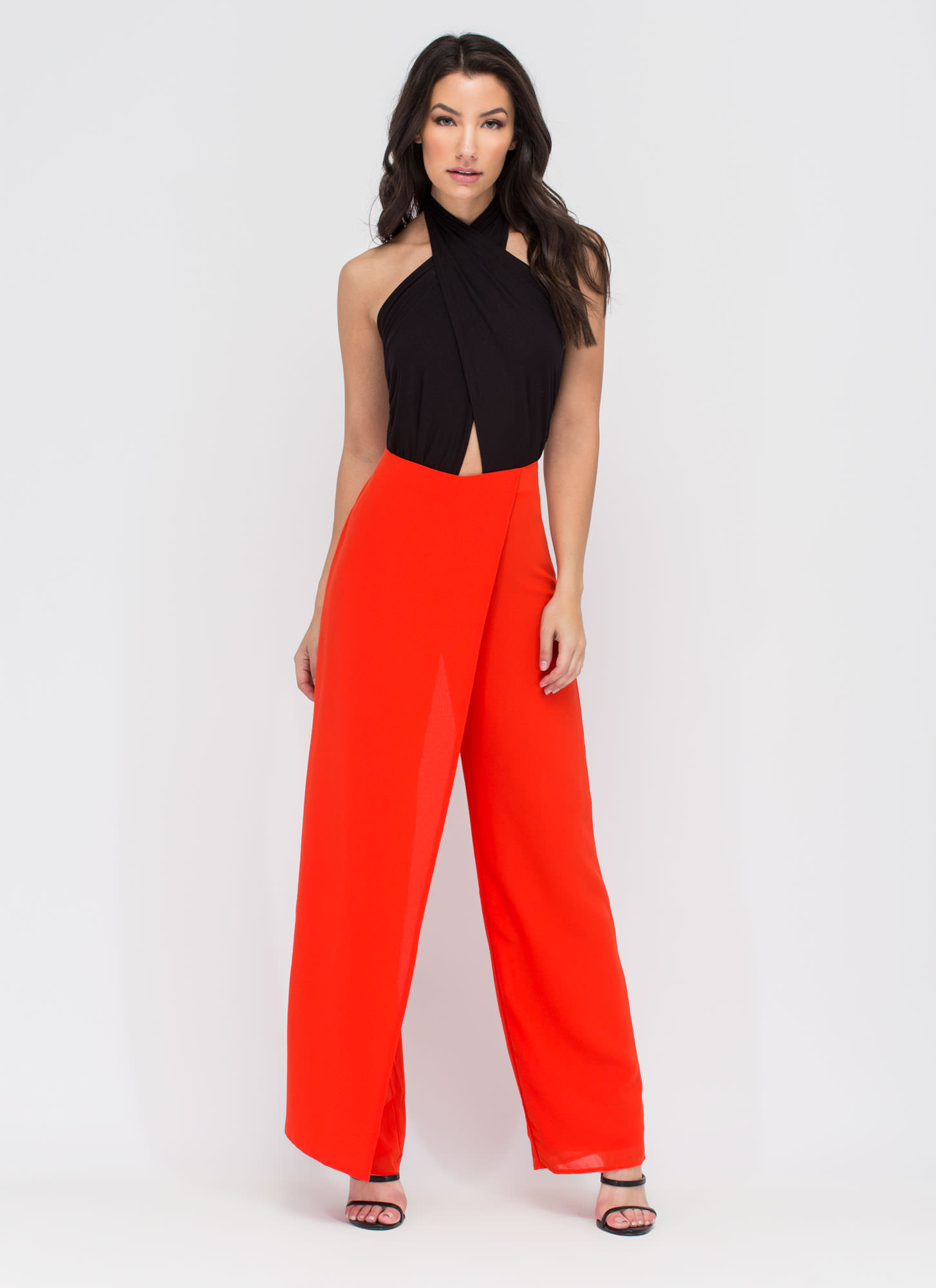 Panel Perfect Palazzo Pants RED