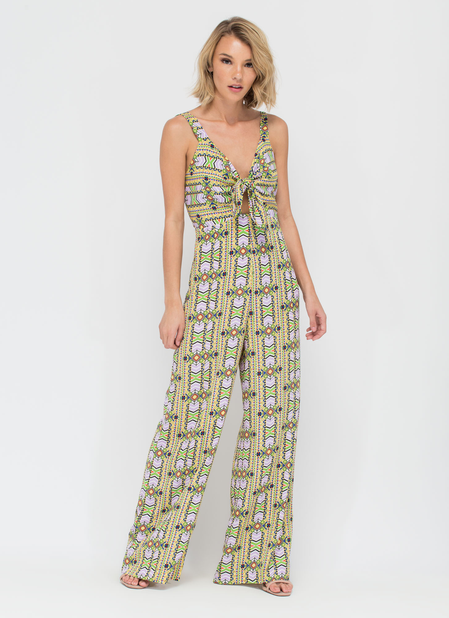 Festival Fave Printed Palazzo Jumpsuit MULTI