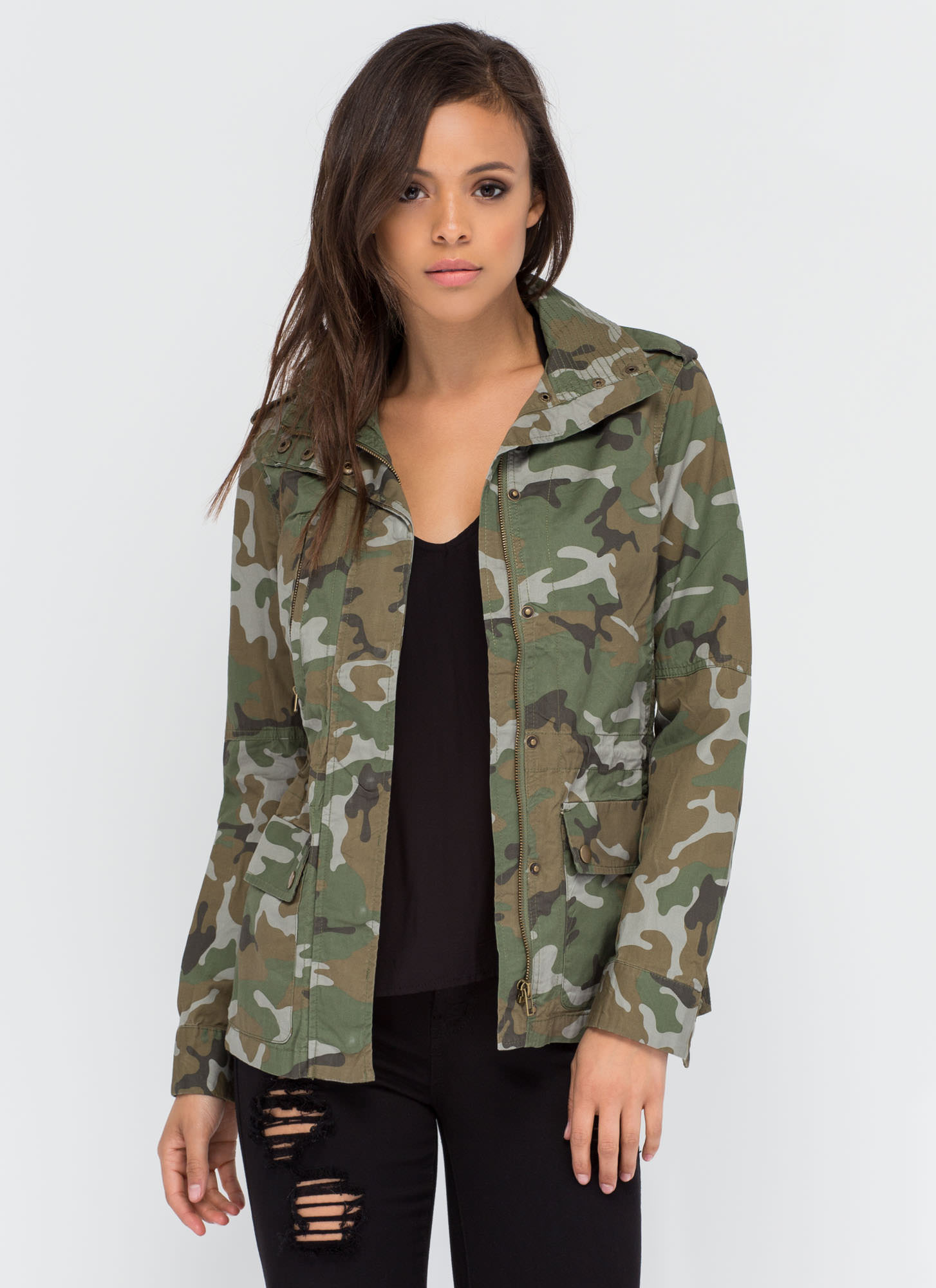 In The Service Camo Utility Jacket CAMOUFLAGE