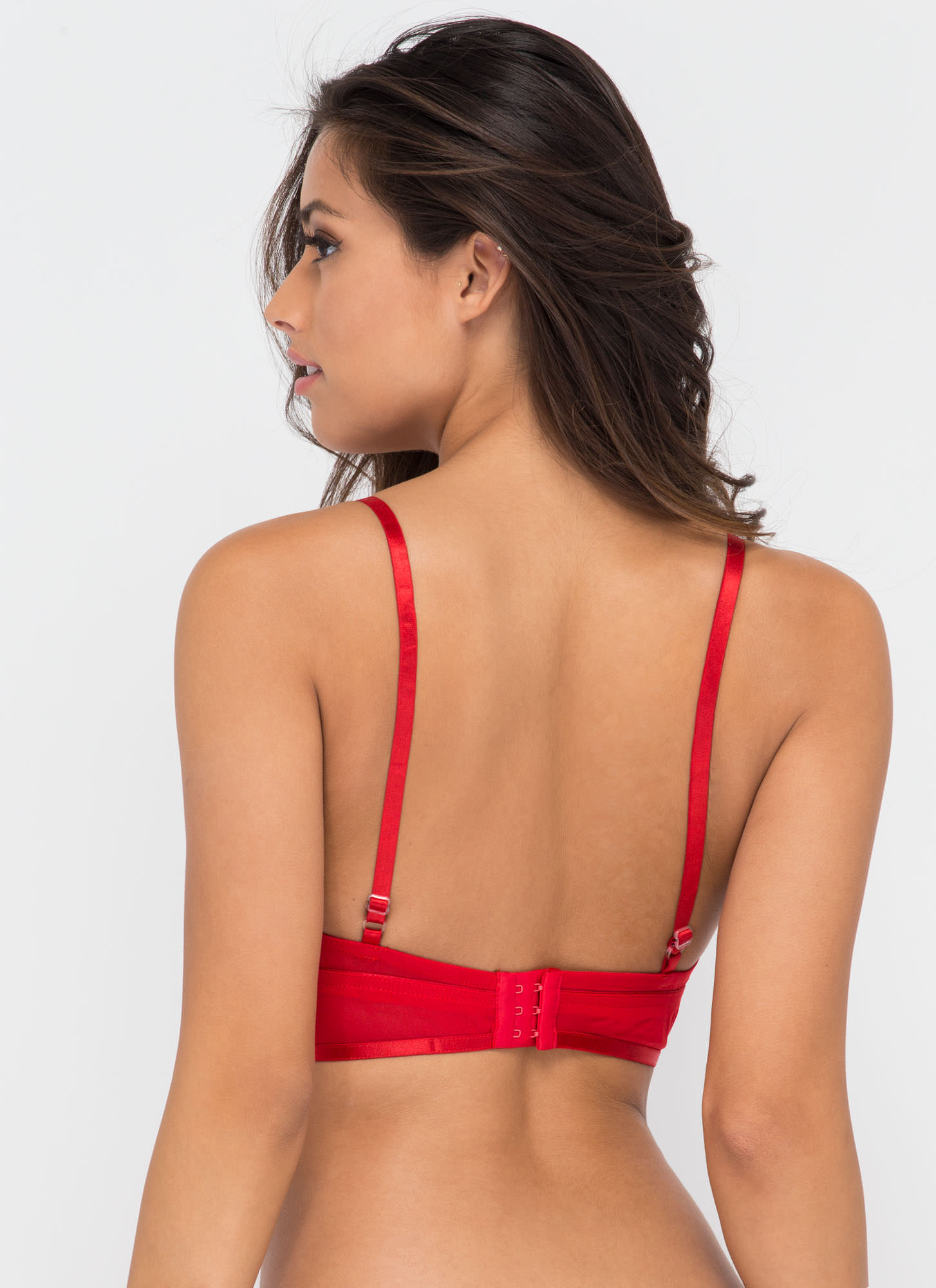 Last Call Strappy Bralette RED (Final Sale)