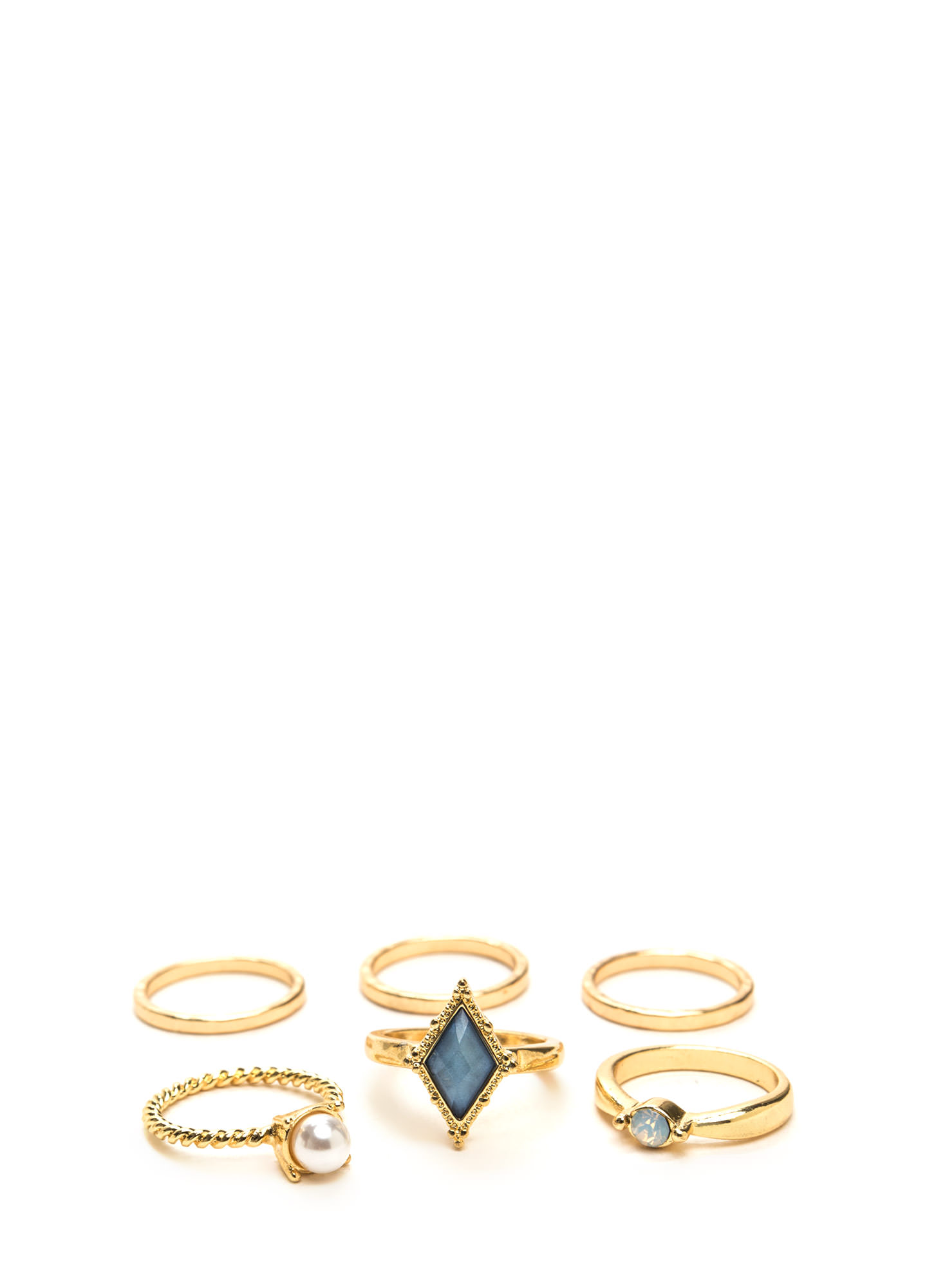 Lots Of Charm Ring Set BLUEGOLD