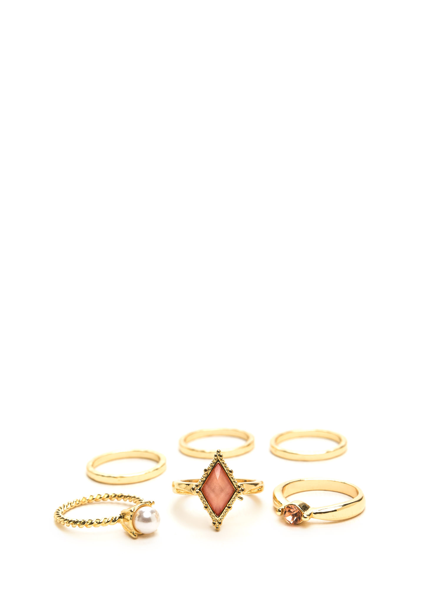 Lots Of Charm Ring Set PINKGOLD