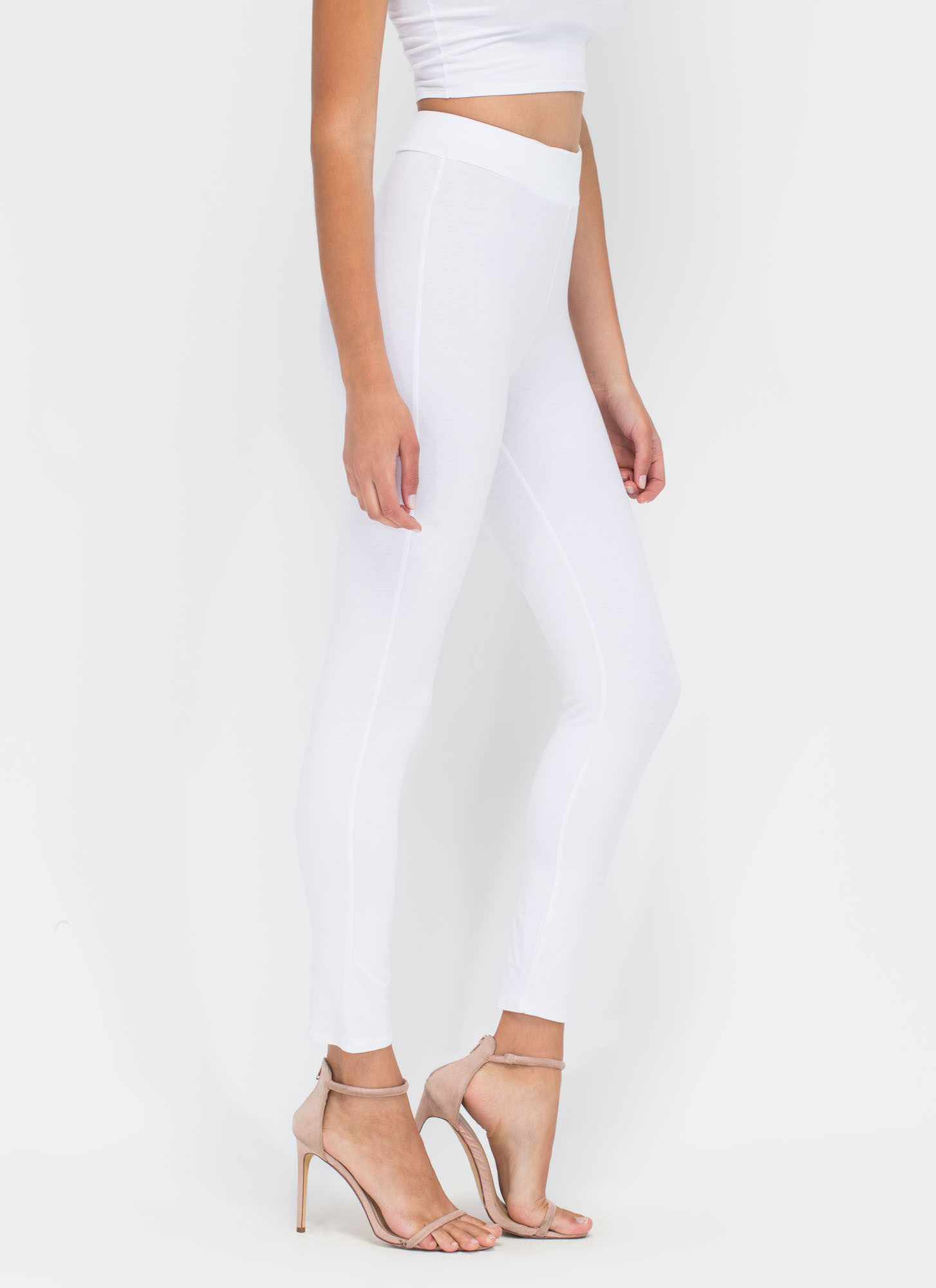 Basic Need Fitted Leggings WHITE
