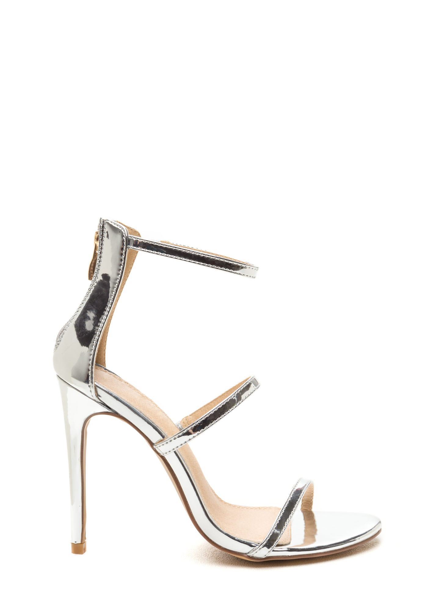 Metallic Strappy Heels - Is Heel