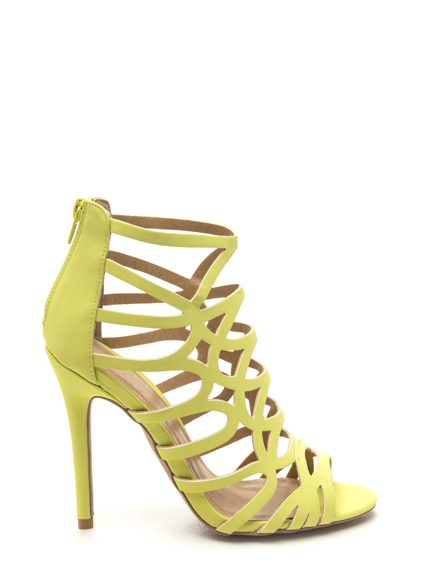Low Heel Yellow Shoes