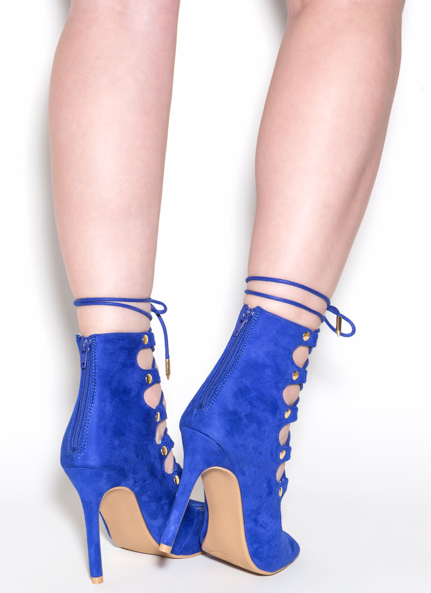 Save The Last Dance Lace-Up Heels BLUE