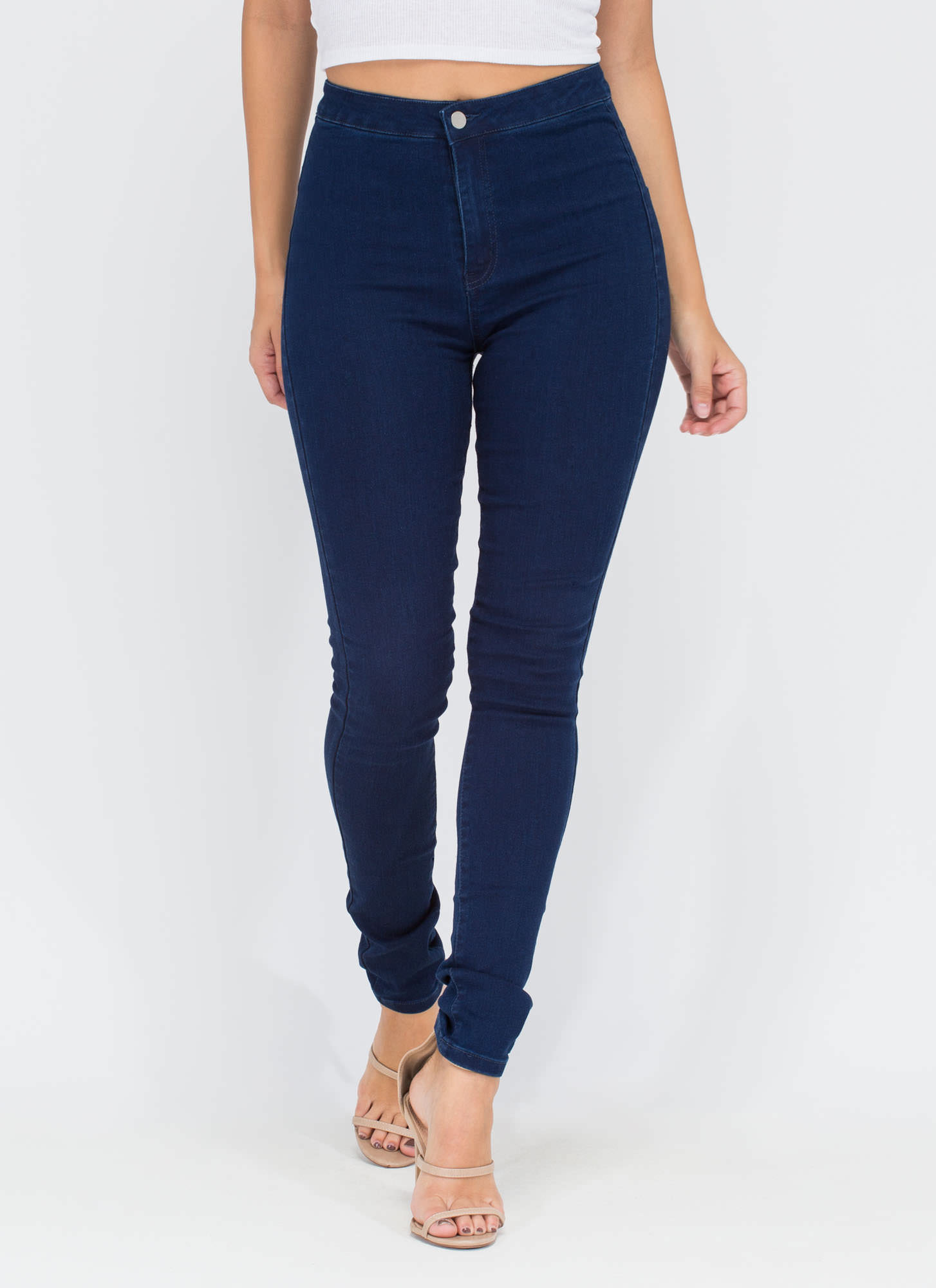 Shapely Design High-Waisted Jeans DKBLUE