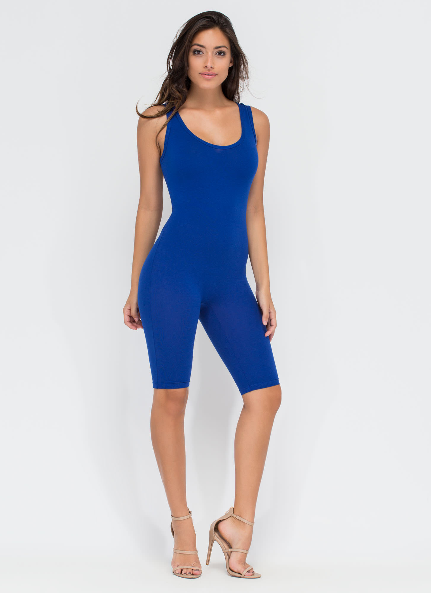 Get The Scoop Cropped Jumpsuit ROYAL