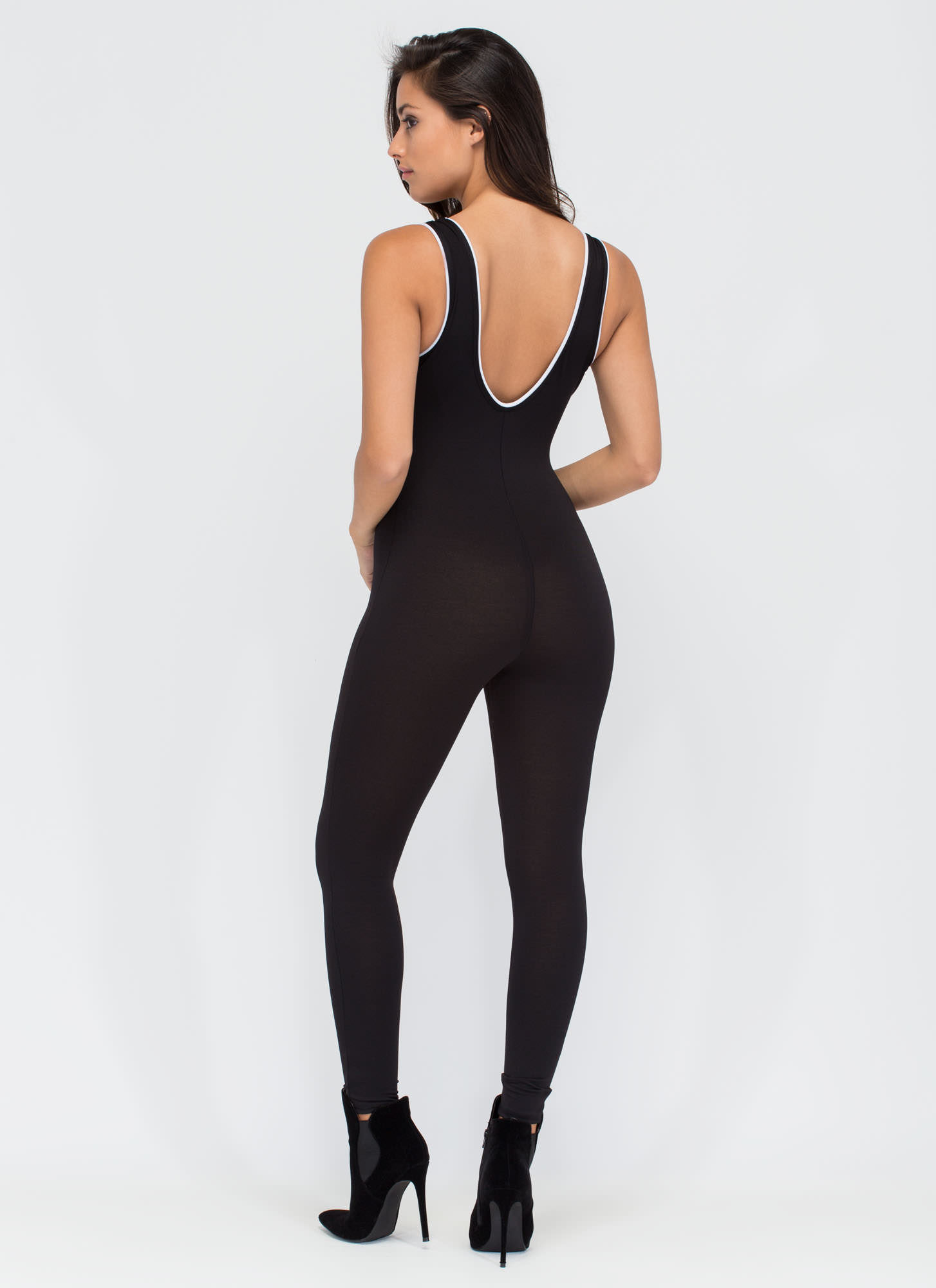 Totally Killin' It Athleisure Jumpsuit BLACK