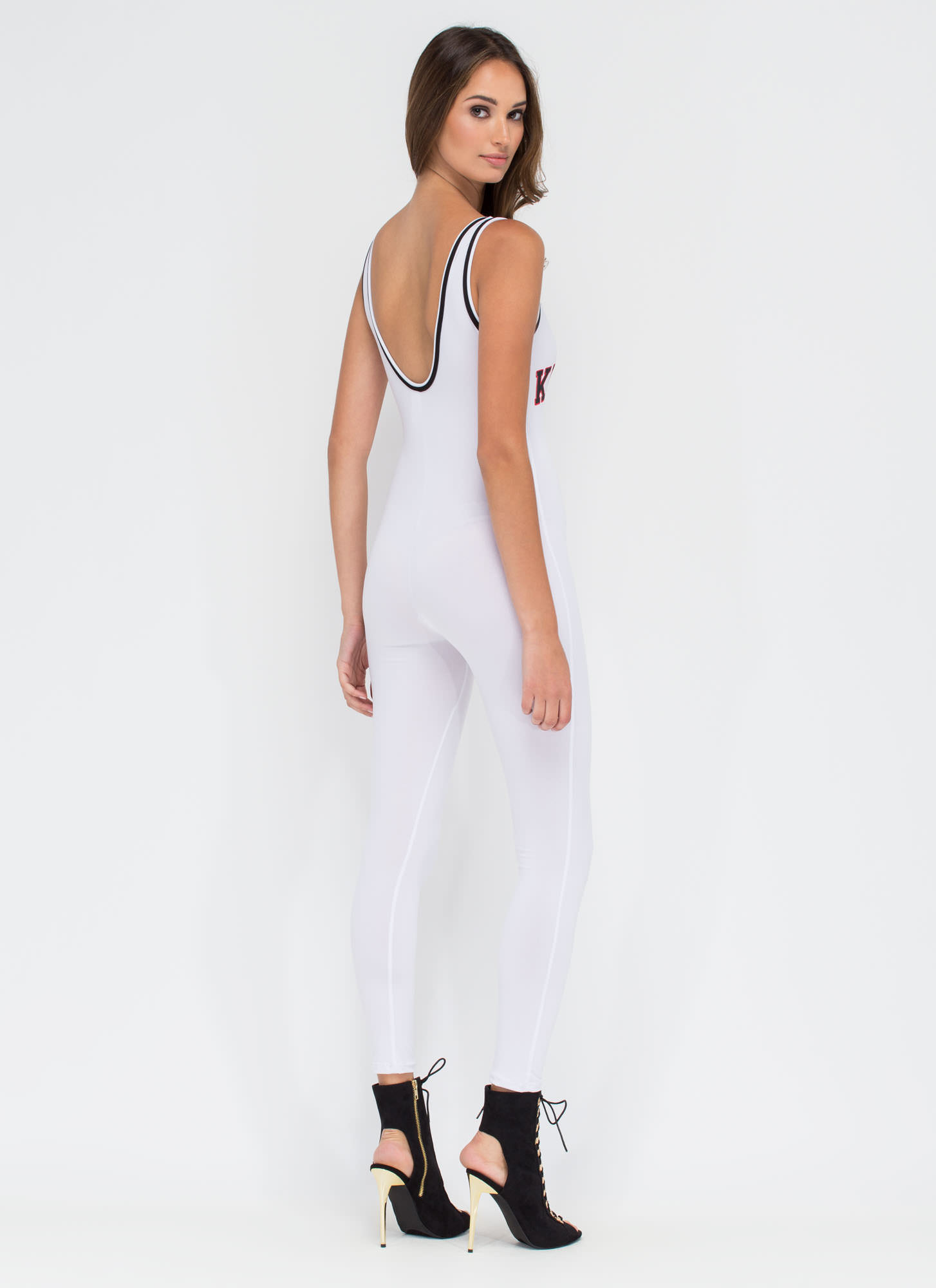 Totally Killin' It Athleisure Jumpsuit WHITE