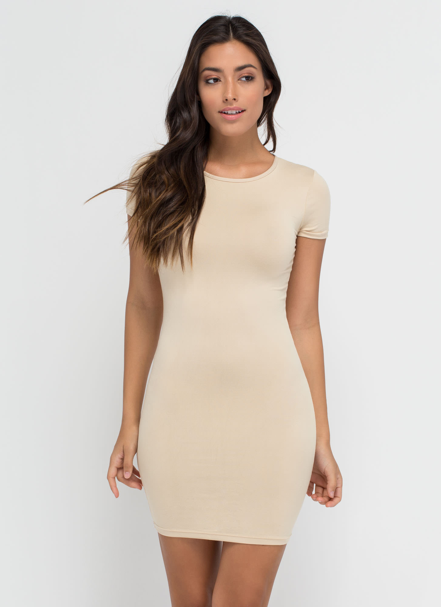 Doing Yourself A Solid T-Shirt Dress KHAKI