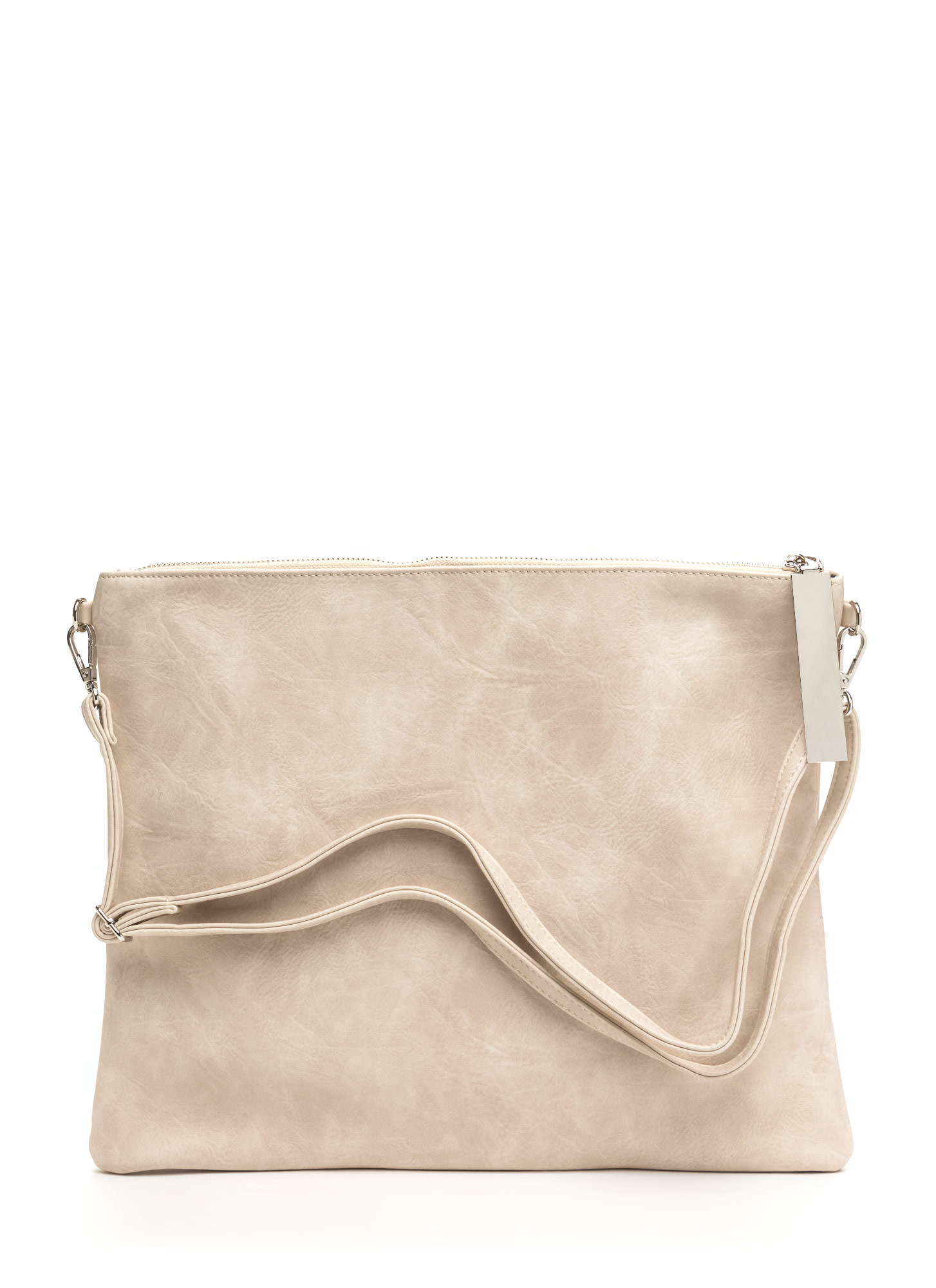 Arrive In Style Flat Oversized Clutch IVORY