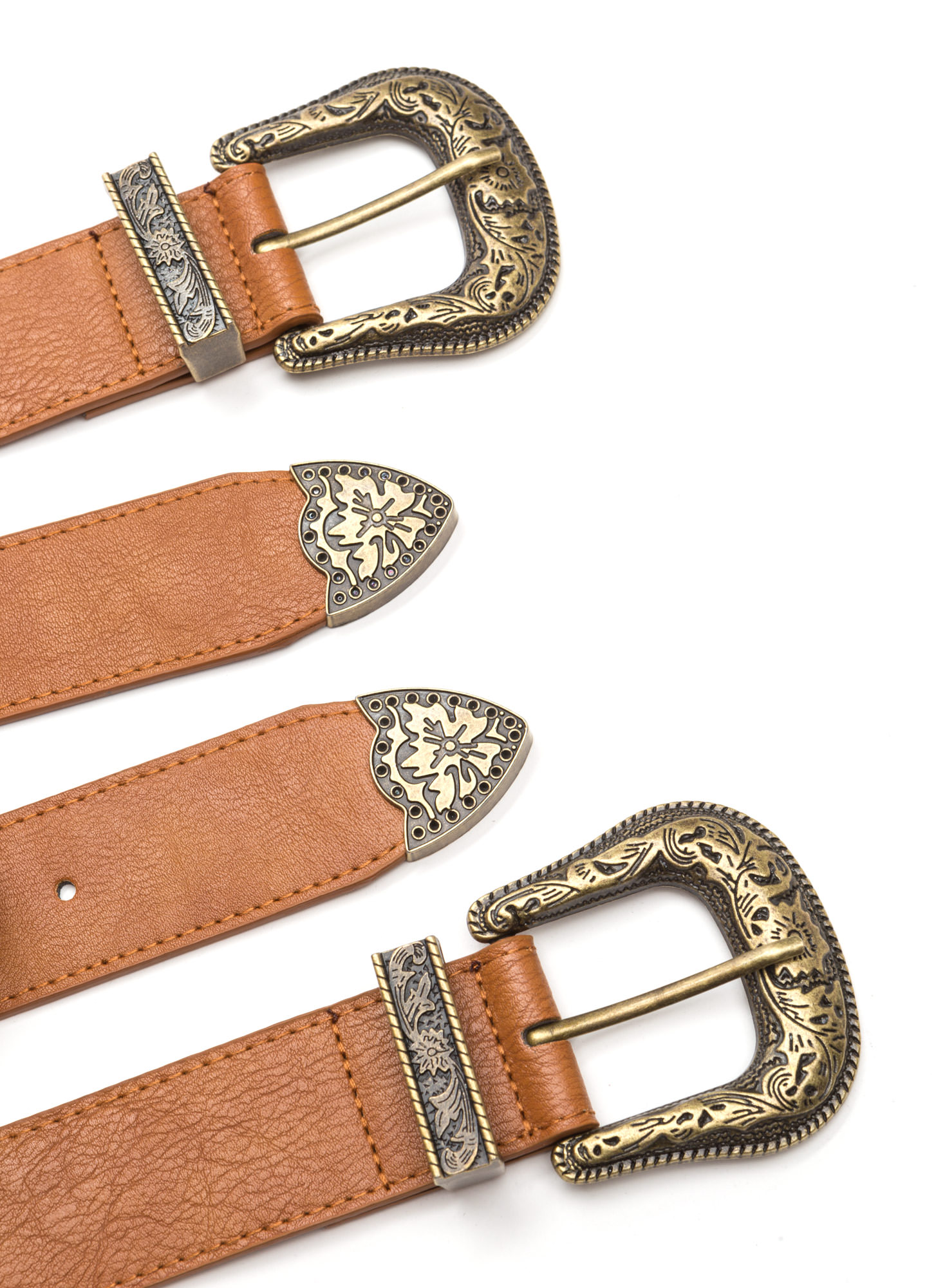 Wild Western Double Buckle Belt TANDKGOLD
