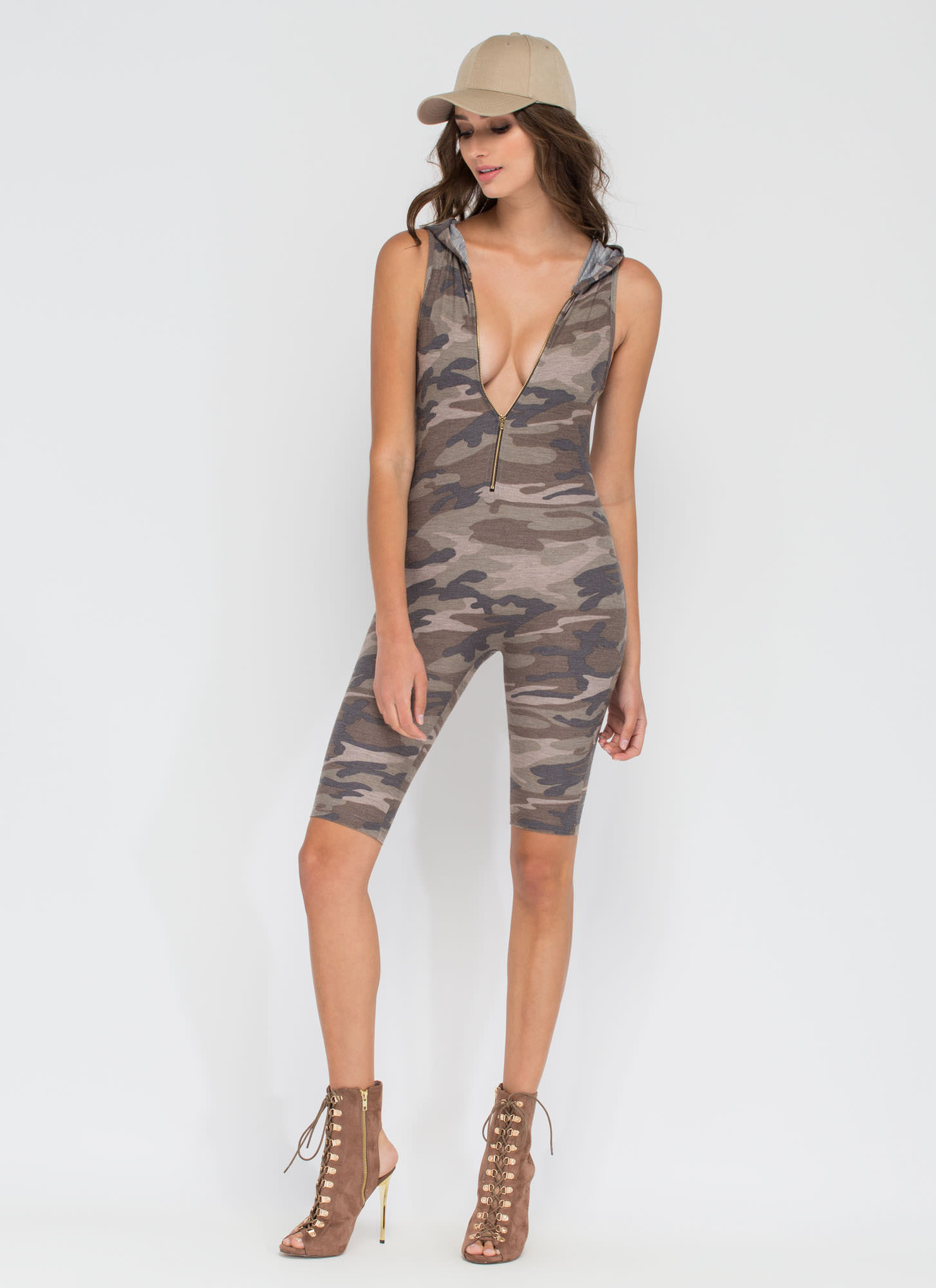 Salute You Cropped Jumpsuit CAMO