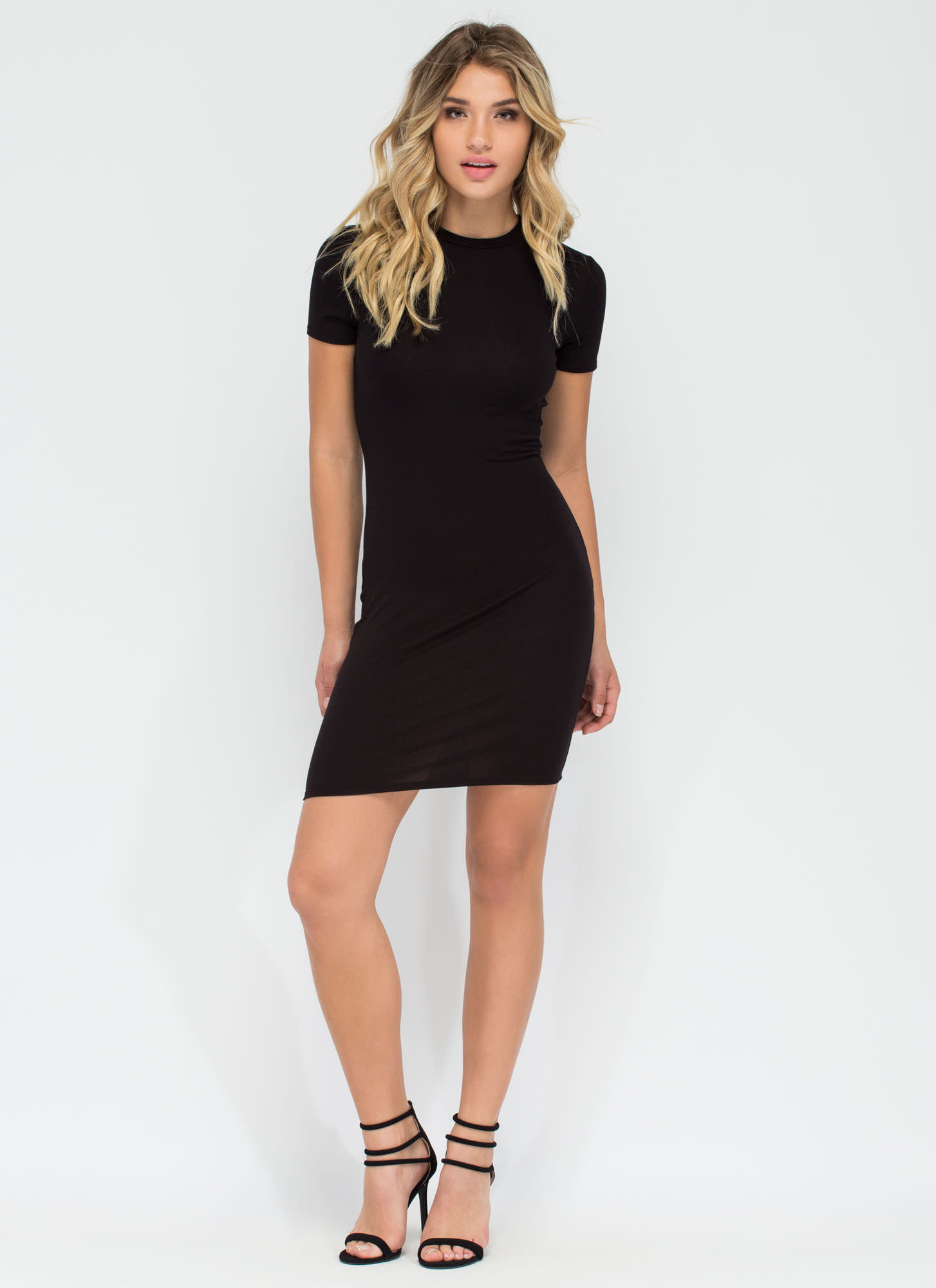 Necessary Knit Basic Dress BLACK