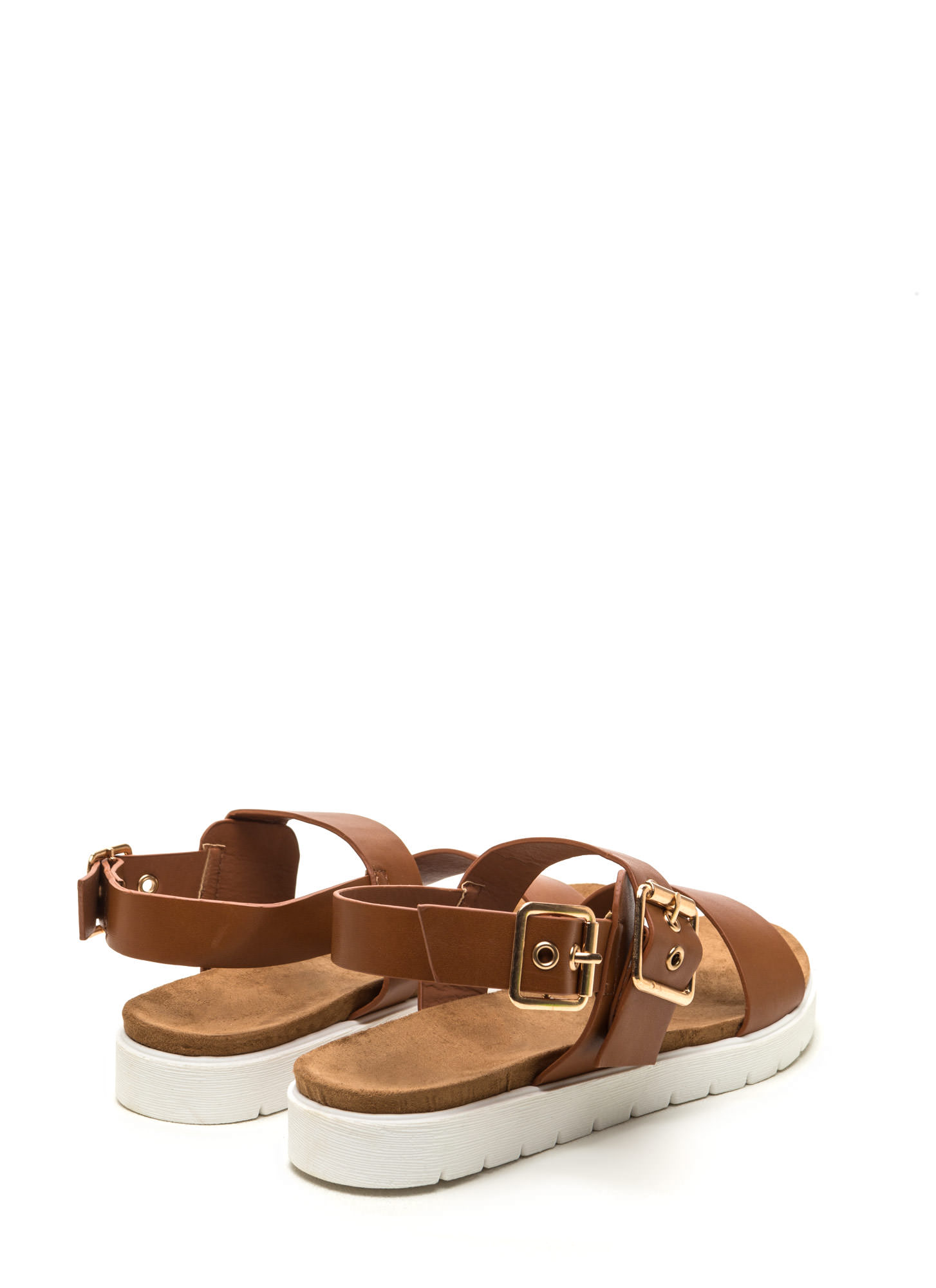 All Day Event Strappy Flatform Sandals WHISKY