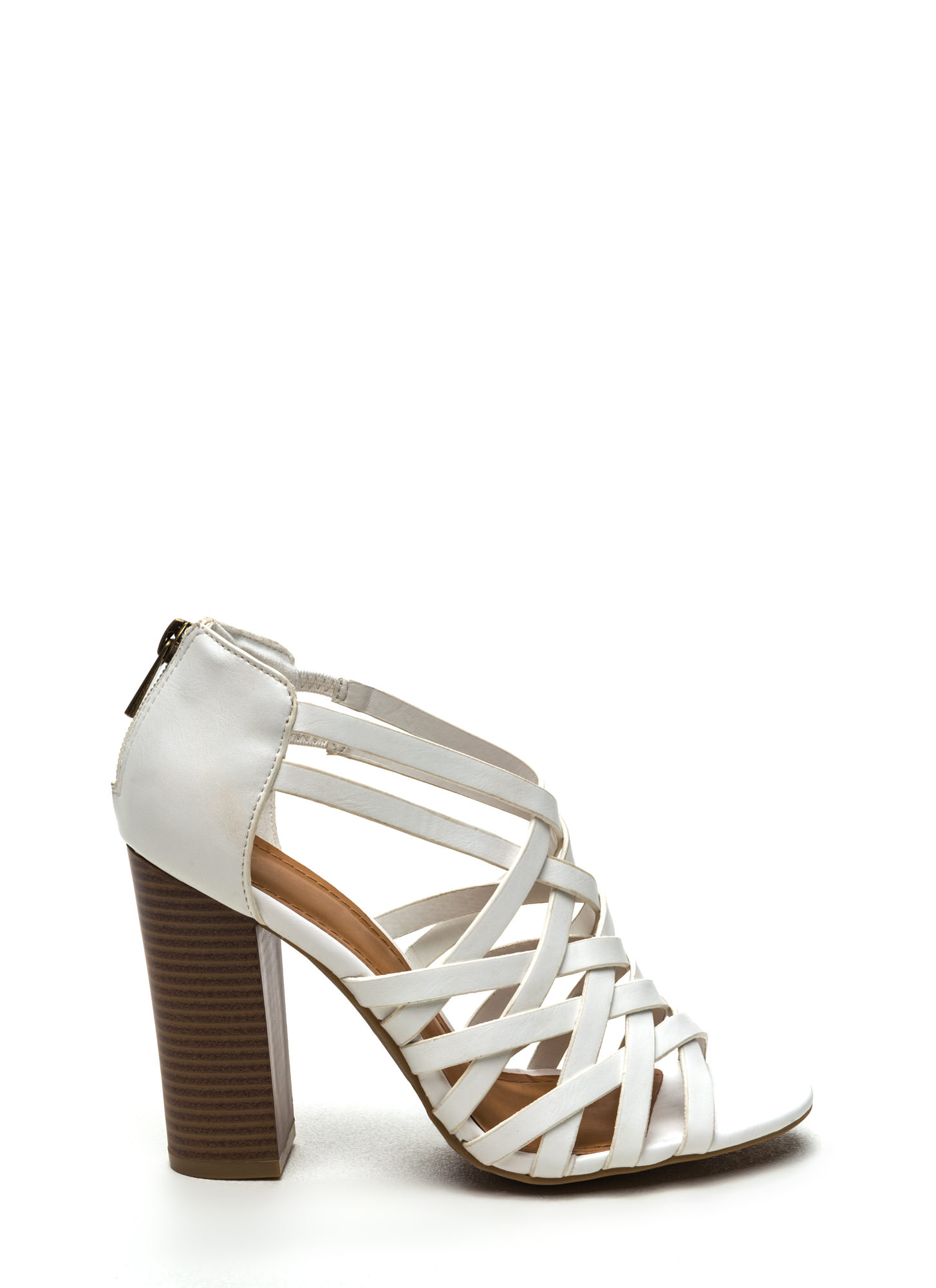 Ladies White Heels