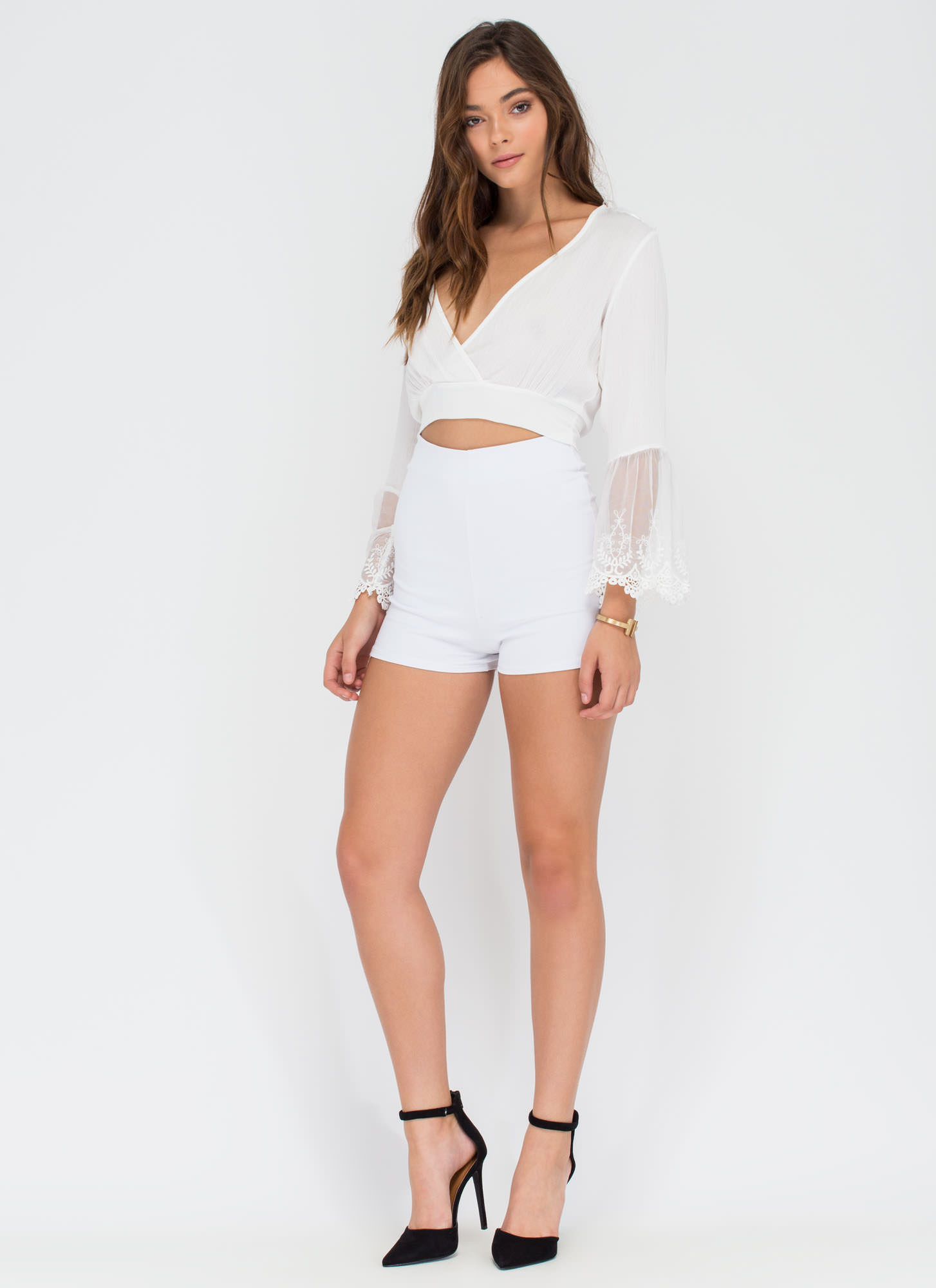 You're All Legs High-Waisted Shorts WHITE