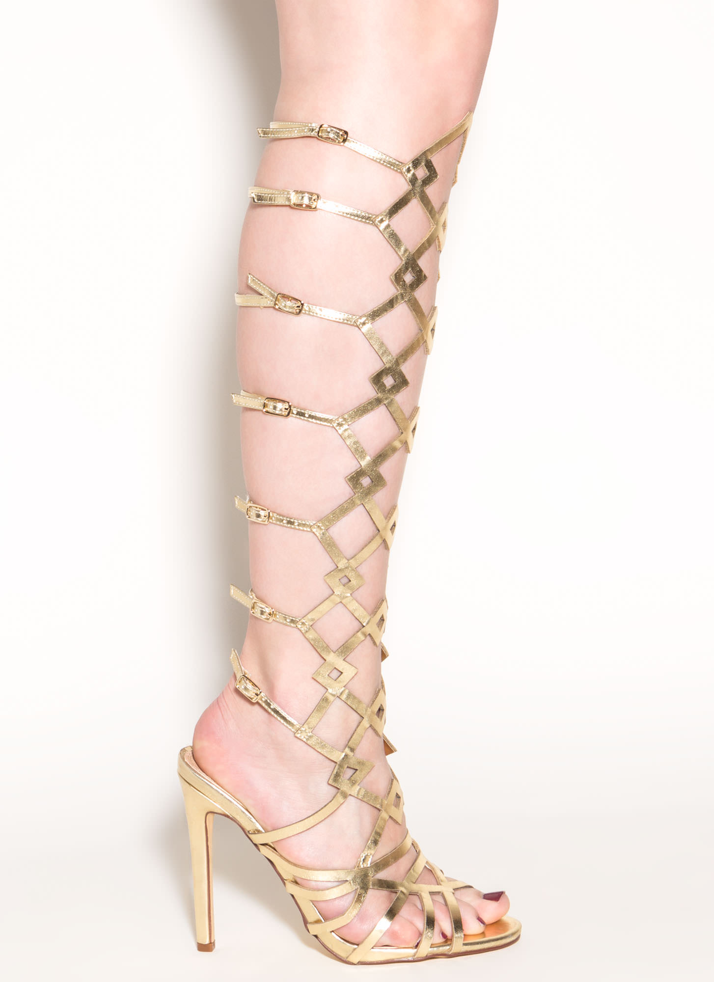 Metallic Gladiator Heels