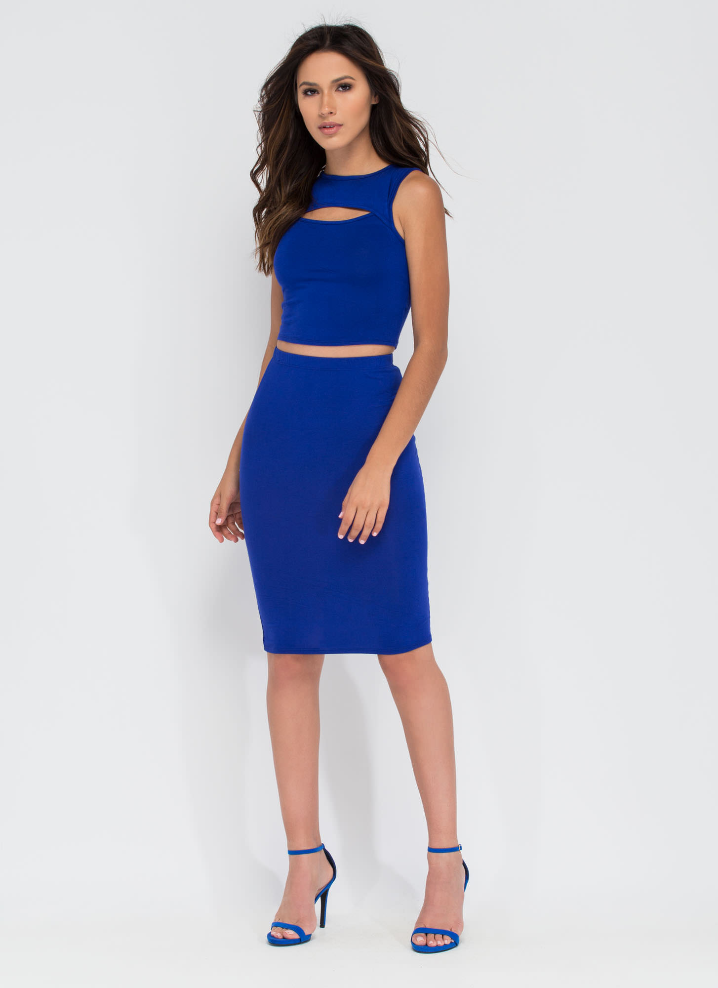 Capture Your Heart Two-Piece Midi Dress ROYAL