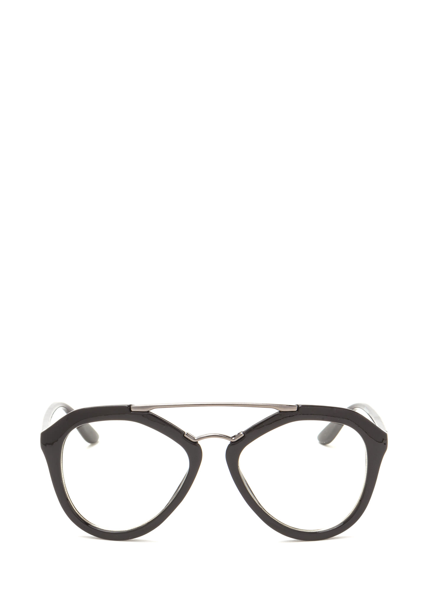 Geek Chic Brow Bar Glasses PEWTERBLACK