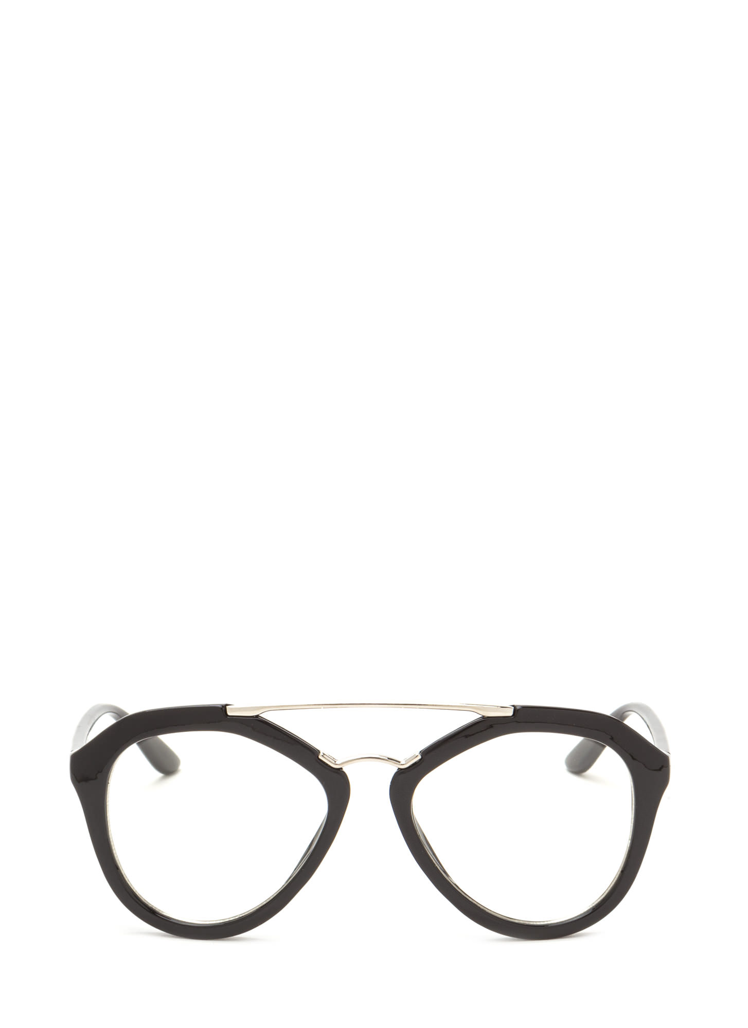 Geek Chic Brow Bar Glasses SILVERBLACK