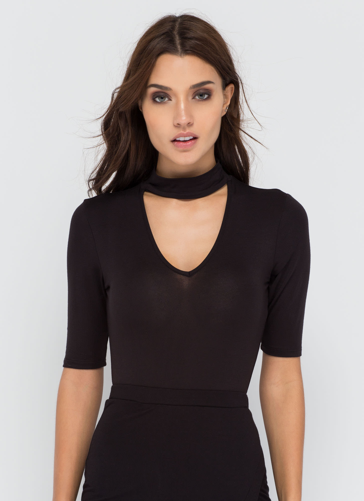 Secret Reveal Cut-Out Bodysuit BLACK