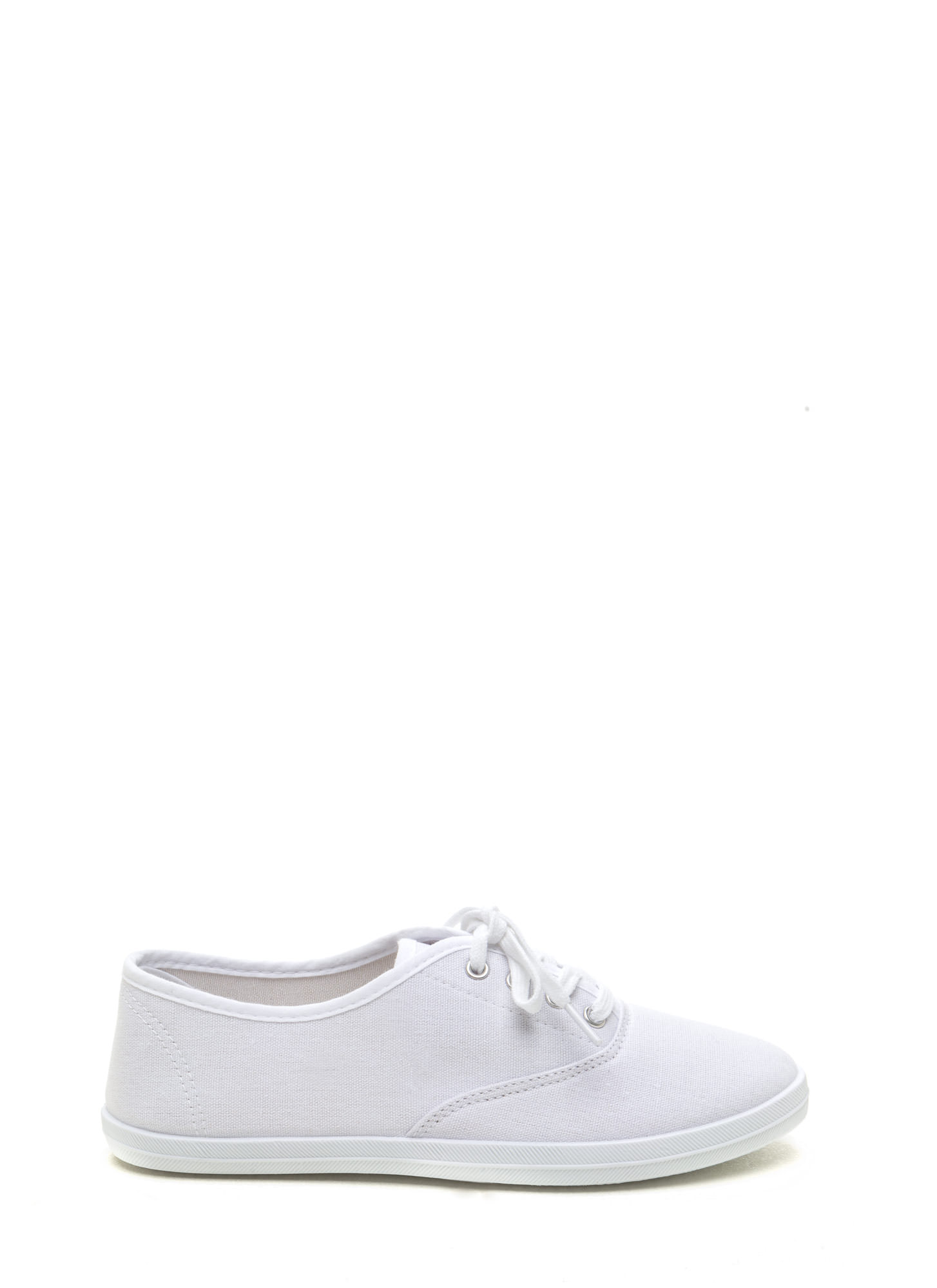 Sneaks Attack Canvas Sneakers WHITE