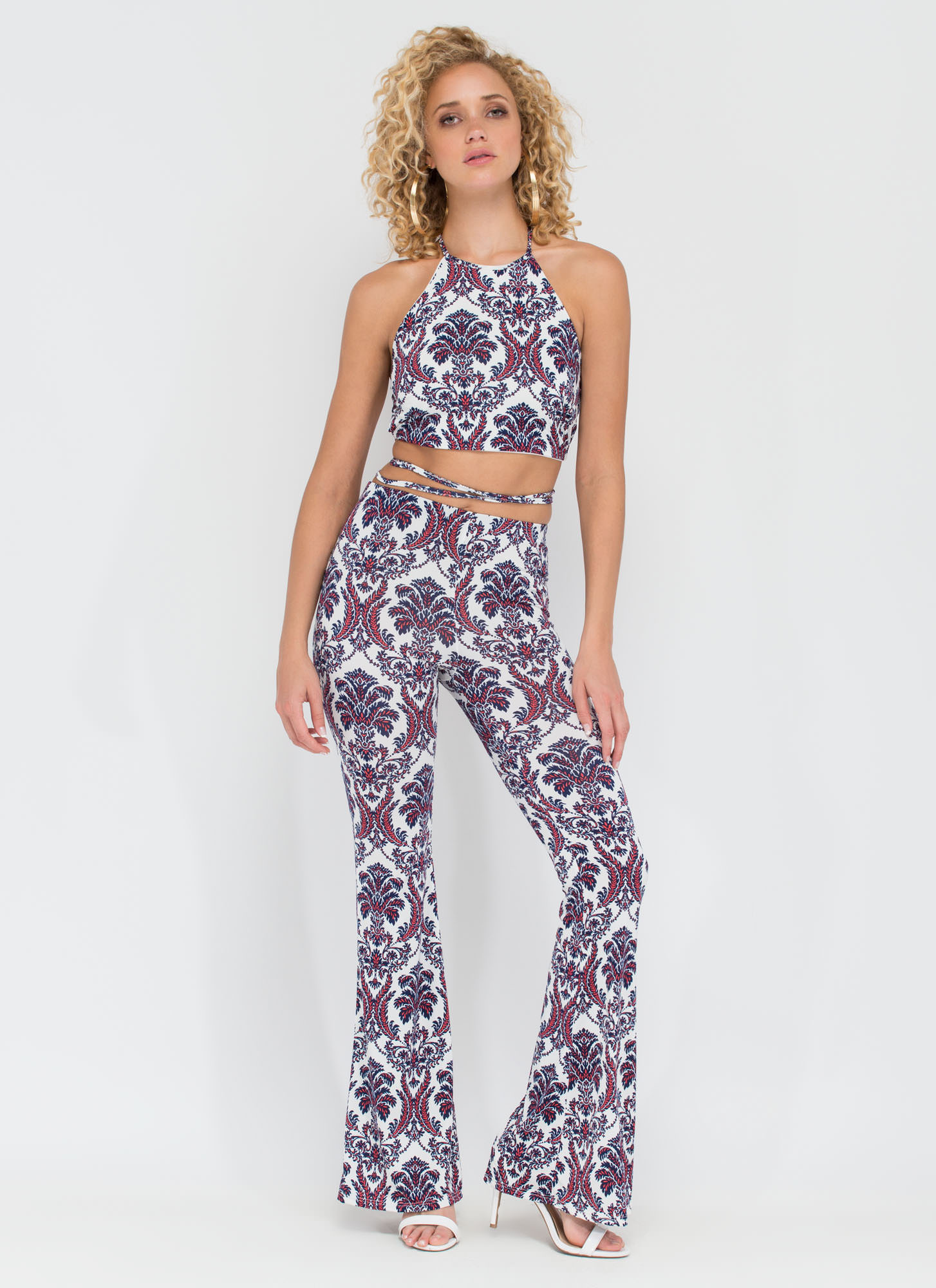 Day Or Night Damask Two-Piece Set MULTI