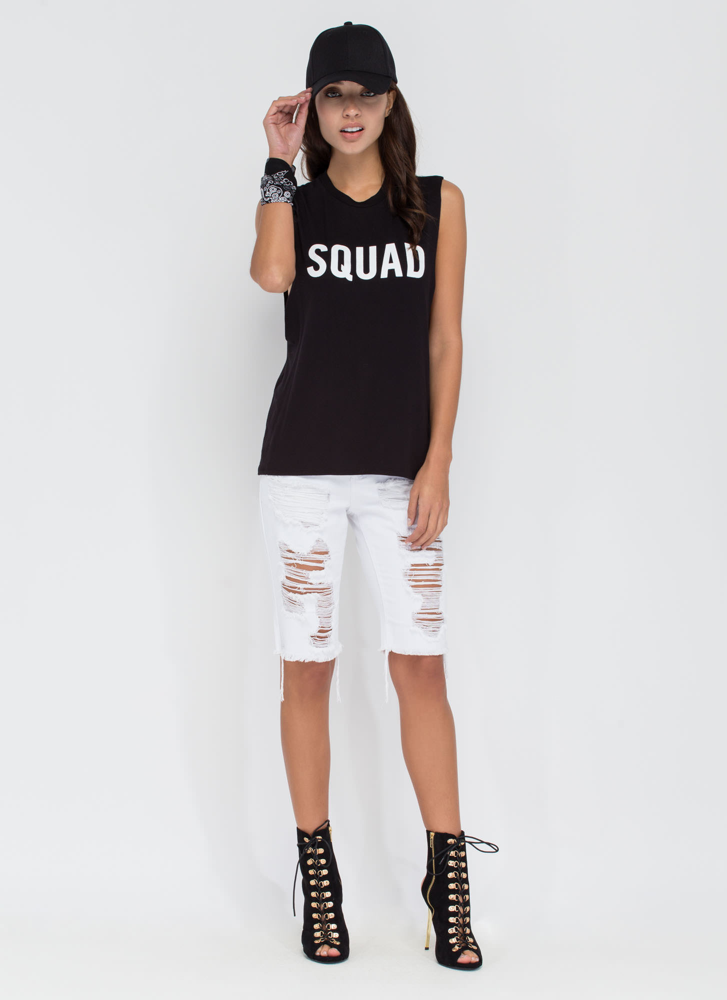 Squad Goals Muscle Tank BLACK
