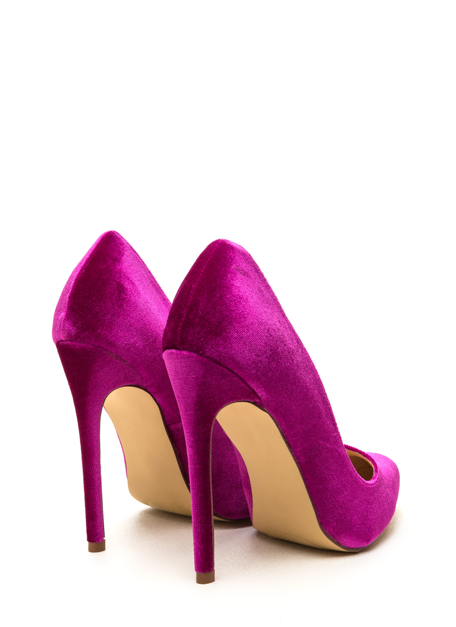 Head To Toe Pointed Velvet Pumps PURPLE