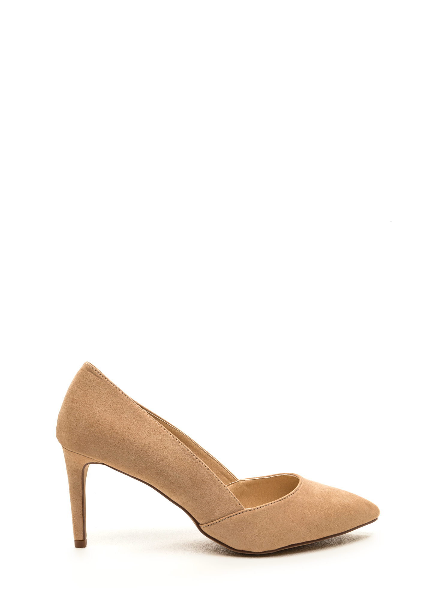 Point Blank Faux Suede Pumps NUDE