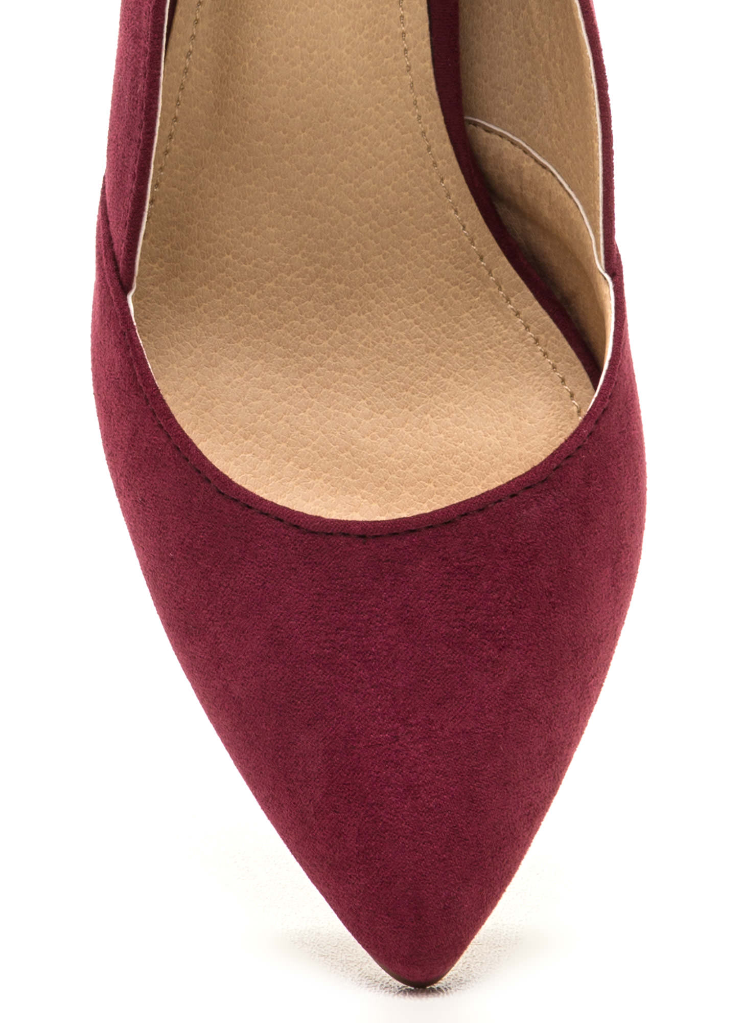 Point Blank Faux Suede Pumps WINE