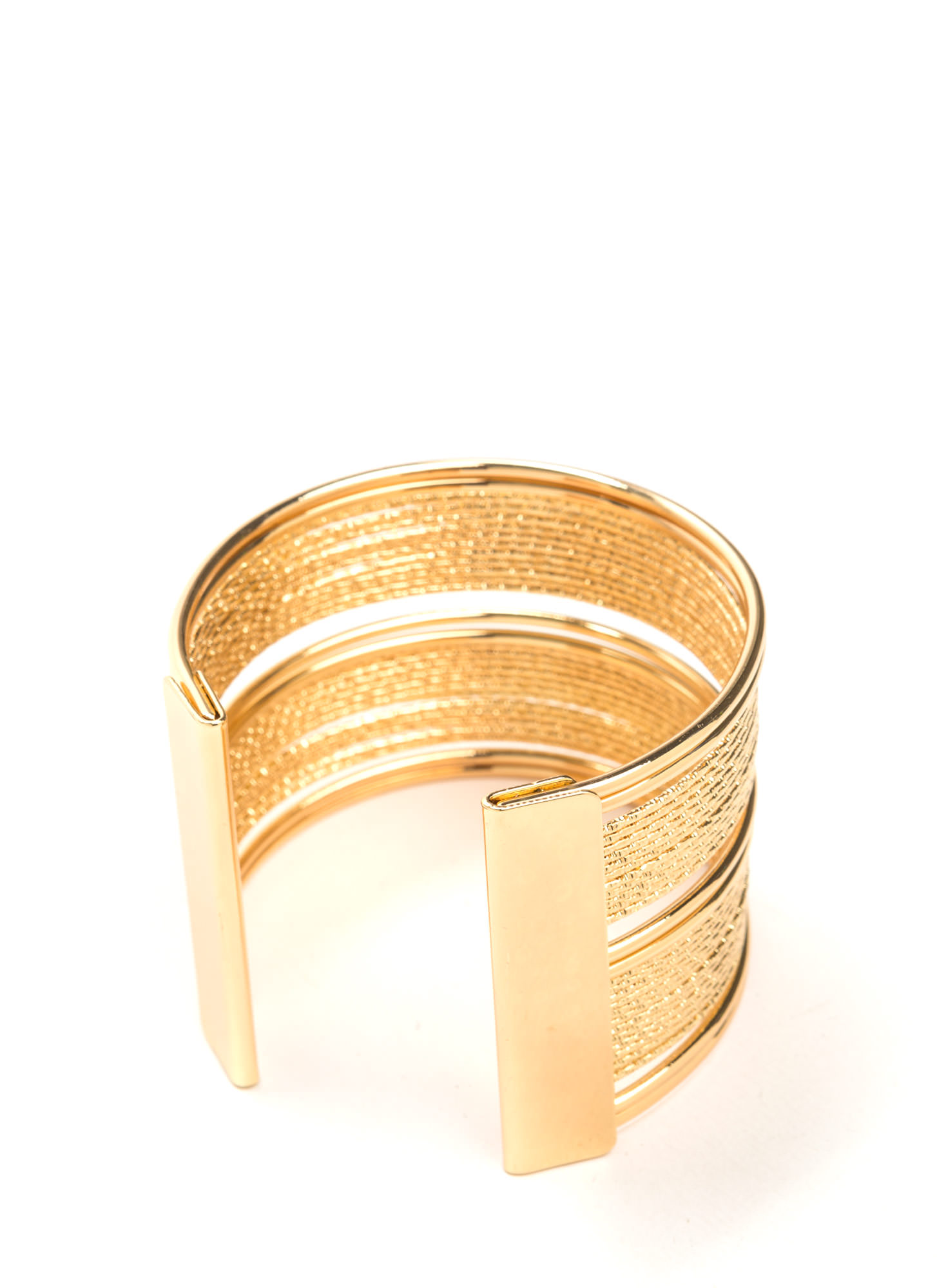 Live Wire Wide Statement Cuff GOLD