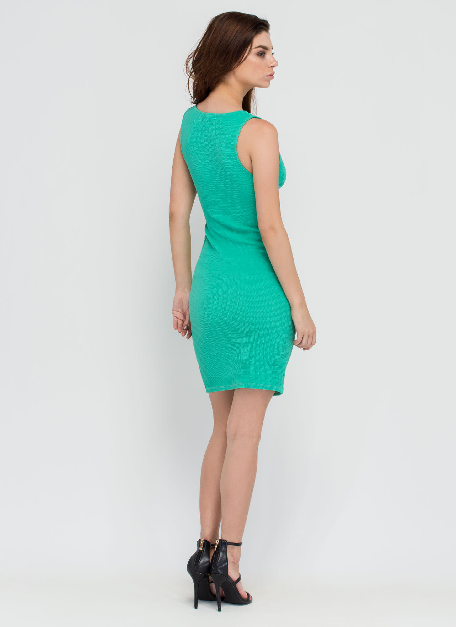 Center Stage Strappy Cut-Out Dress GREEN