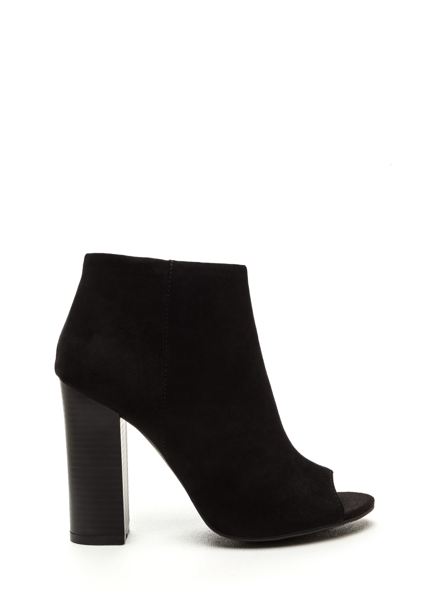Not A Peep Faux Nubuck Booties BLACK