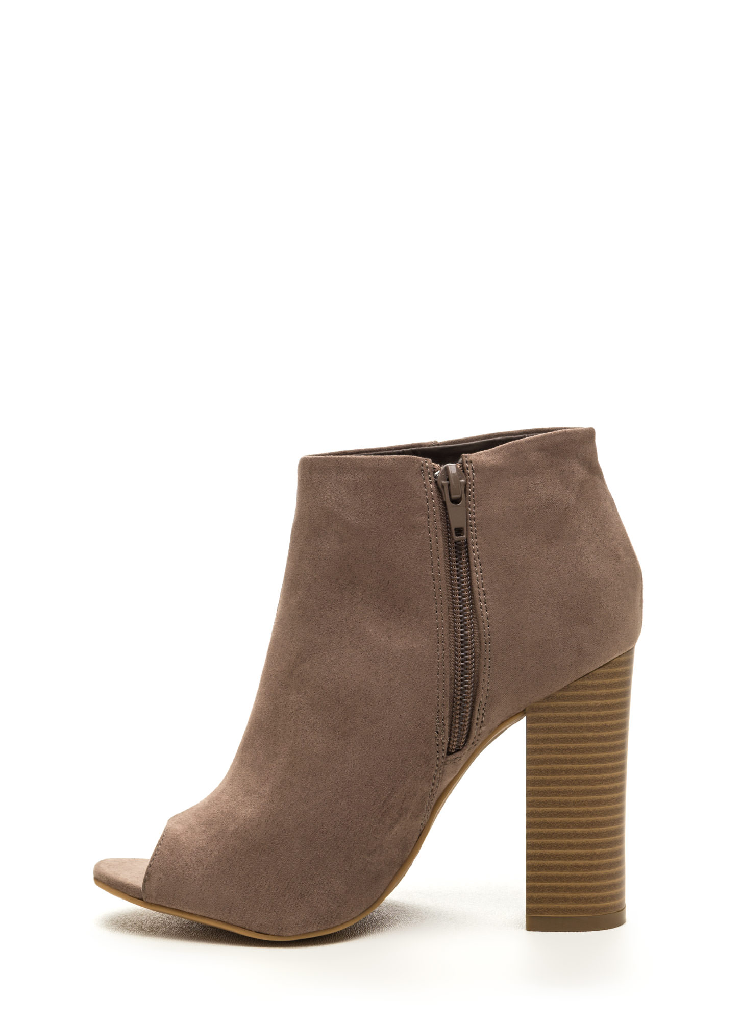 Not A Peep Faux Nubuck Booties TAUPE