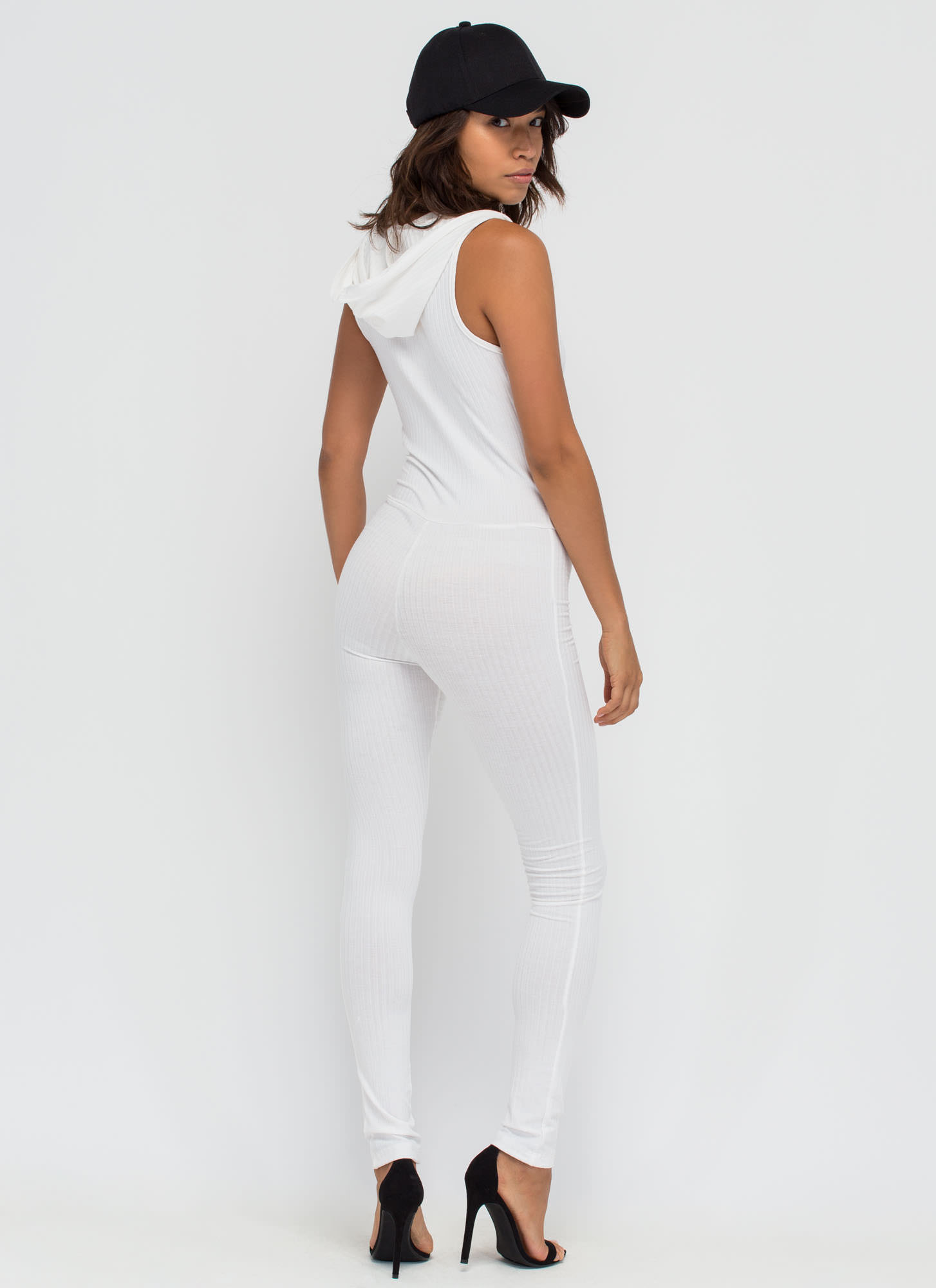 All Good In The Hooded Jumpsuit WHITE