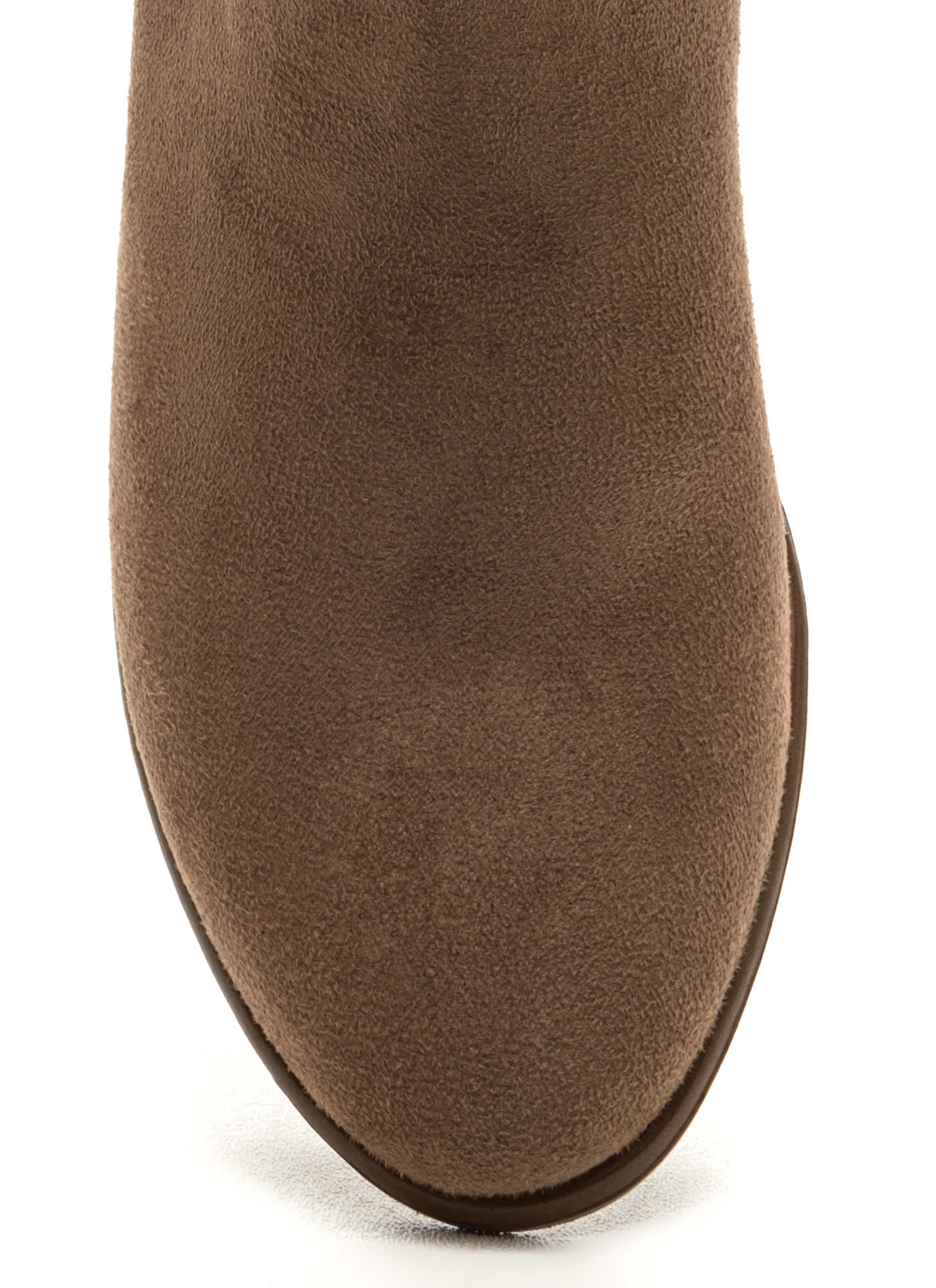 Jetset Diaries Faux Suede Booties TAUPE