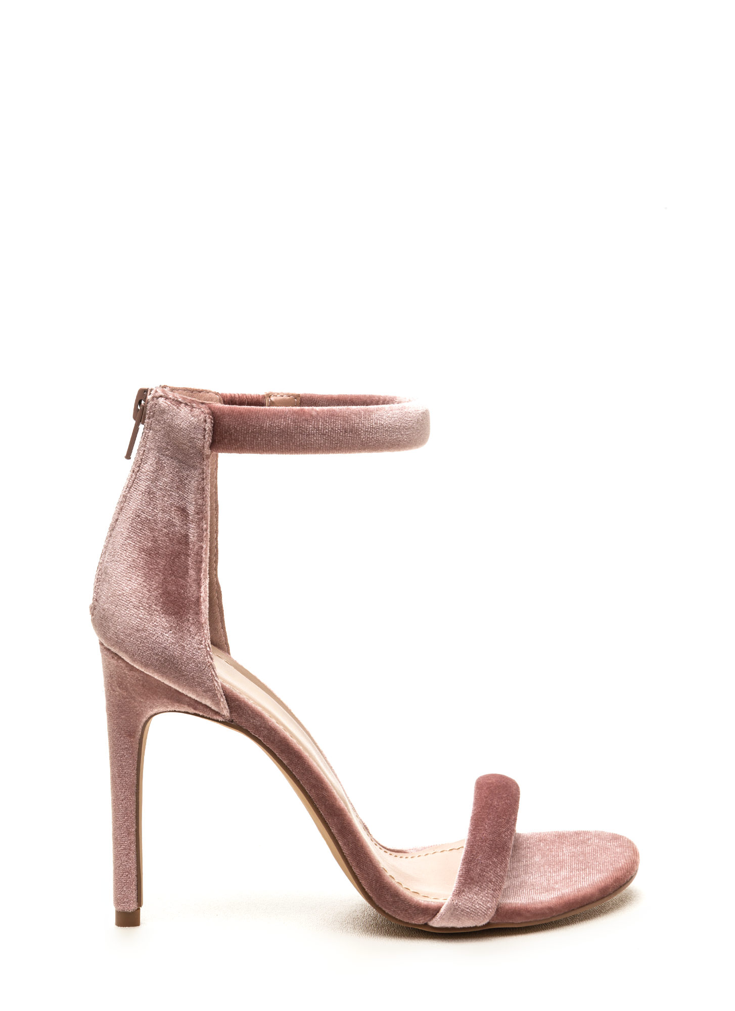 Baby Pink Strappy Heels