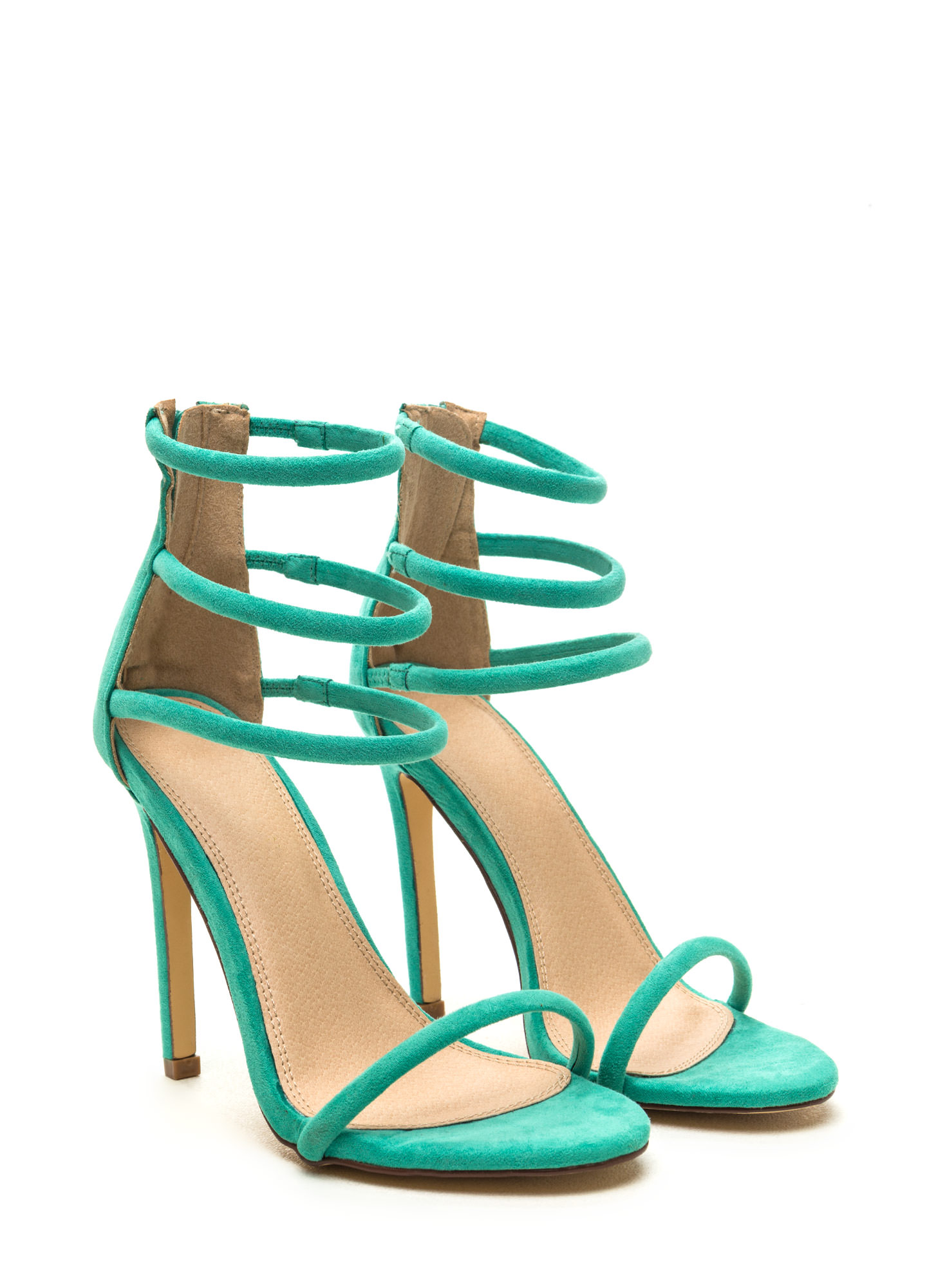 Total Triple Threat Strappy Heels MINT