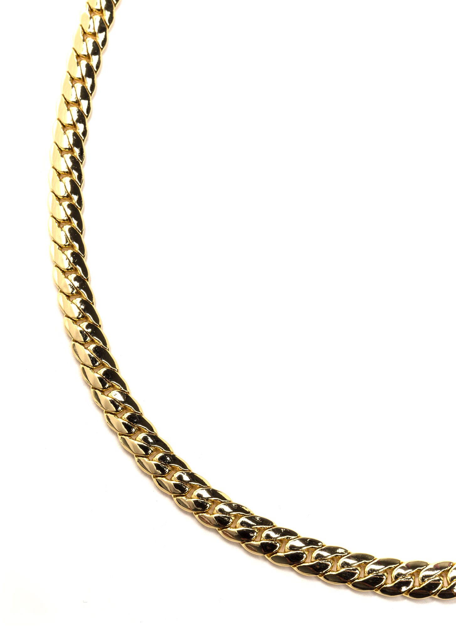 Style Game Gold-Plated Chain Necklace GOLD