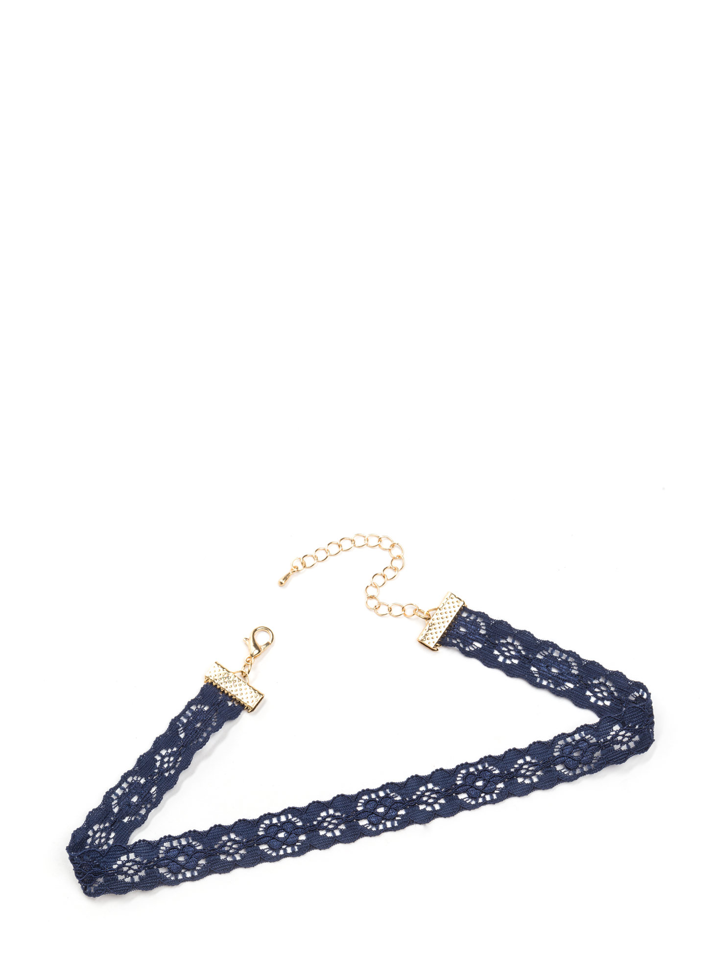Lovely In Floral Lace Choker NAVY