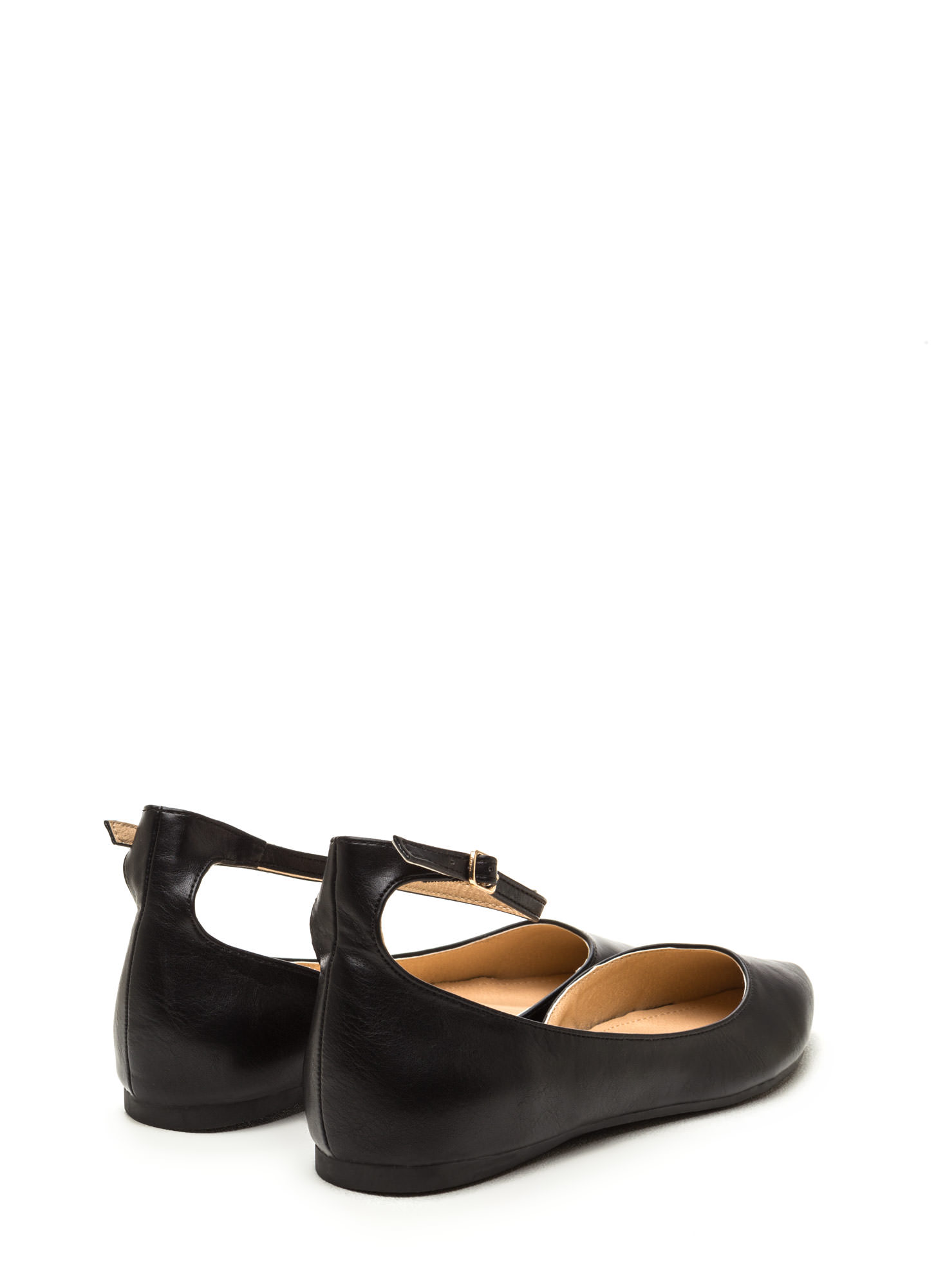 Make It A Point Faux Leather Flats BLACK