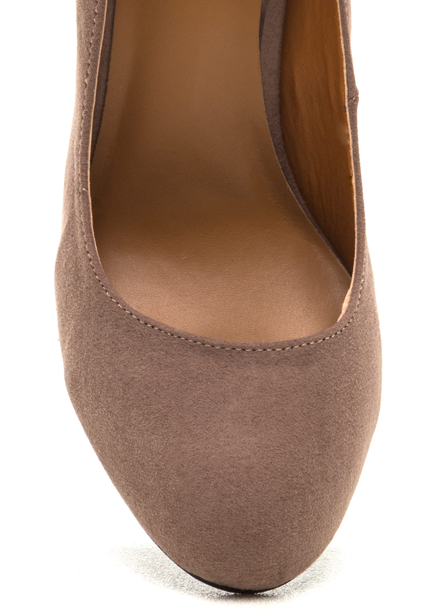 Scene Stealer Faux Suede Pumps TAUPE