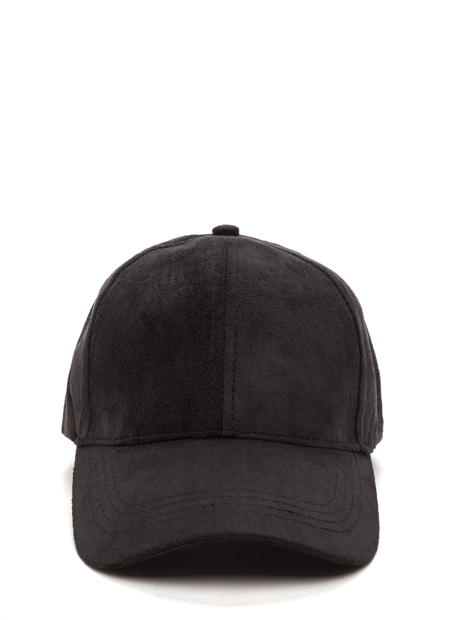 Real Player Faux Suede Baseball Cap BLACK (Final Sale)