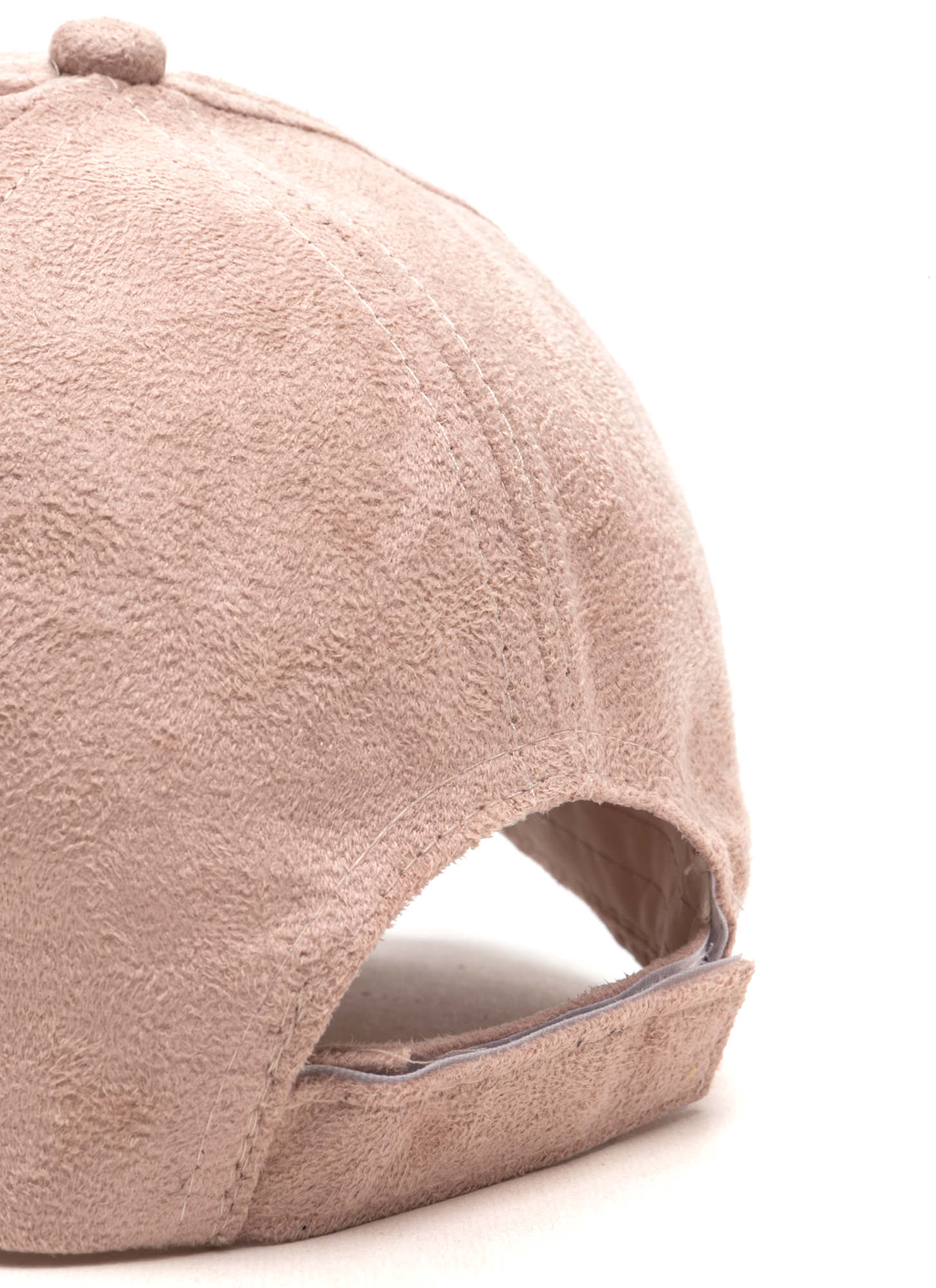 Real Player Faux Suede Baseball Cap LTPINK