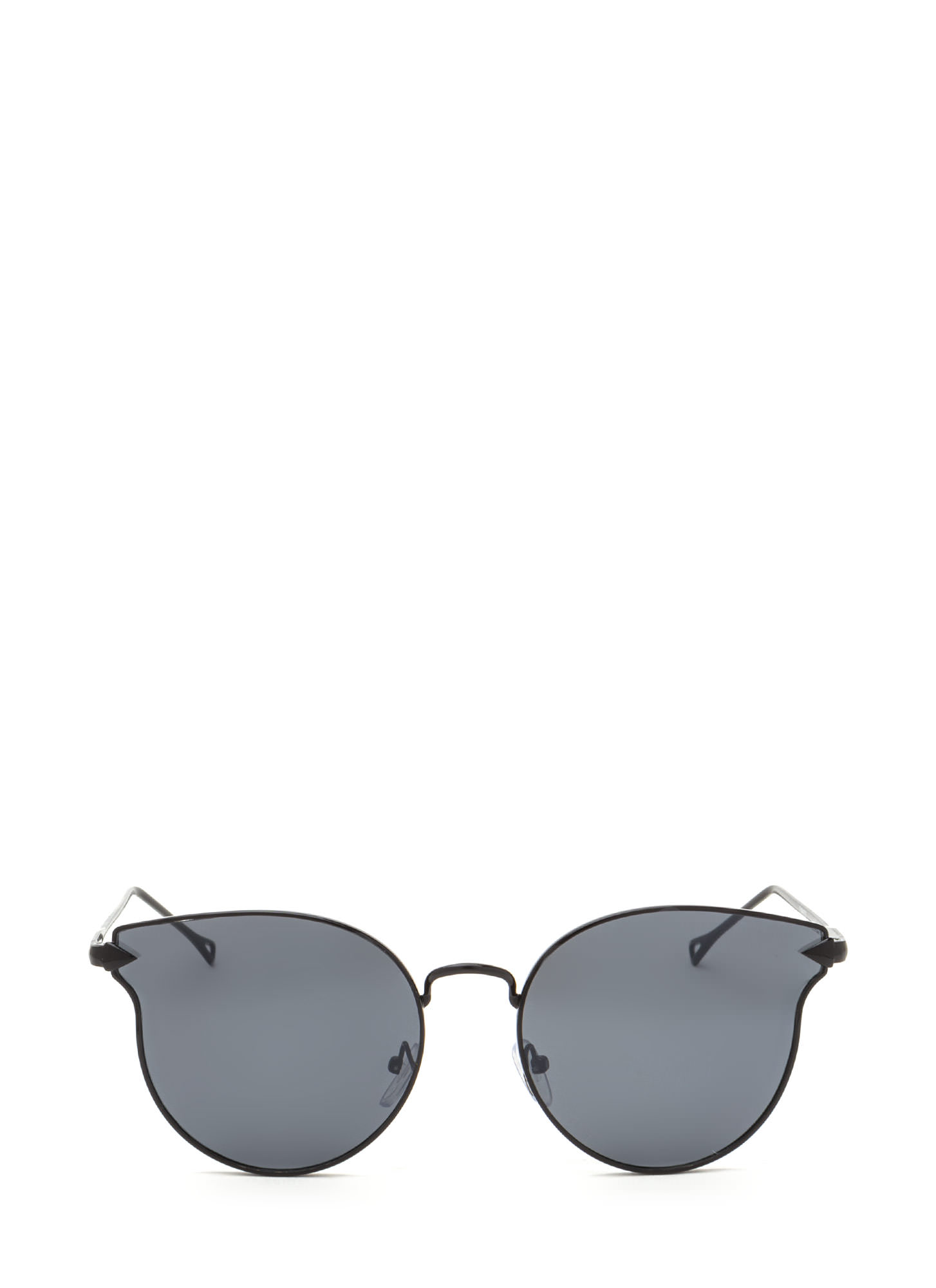 Point The Arrow Round Sunglasses CHARCOALBLK